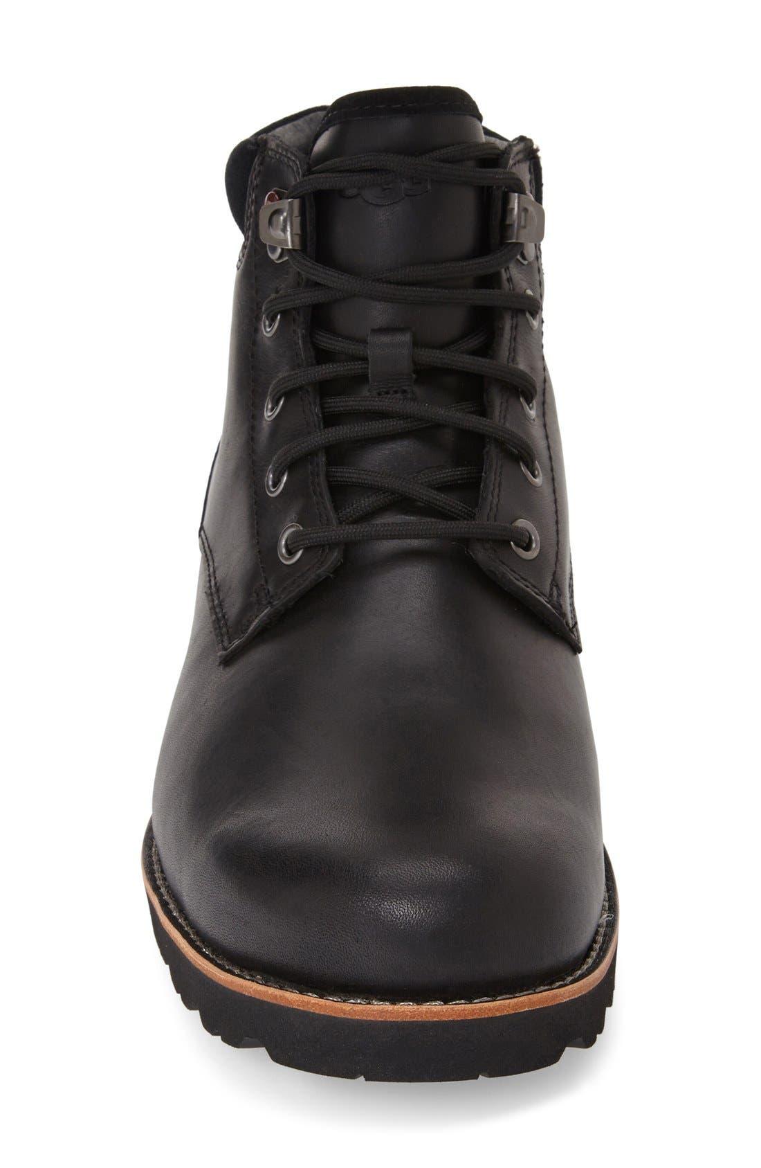 Seton Waterproof Chukka Boot,                             Alternate thumbnail 3, color,                             BLACK
