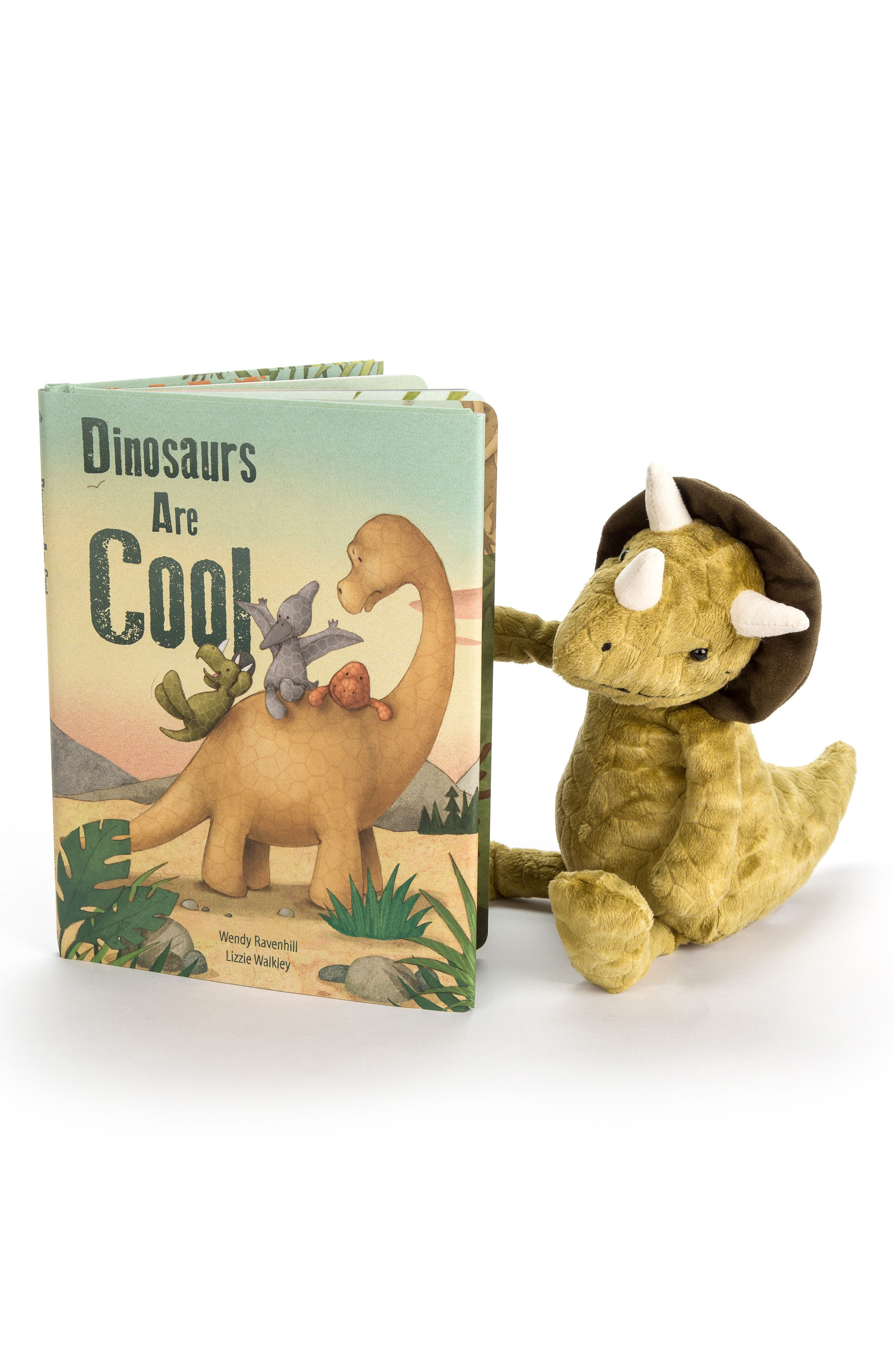 Dinosaurs Are Cool Book & Plush Toy,                             Main thumbnail 1, color,