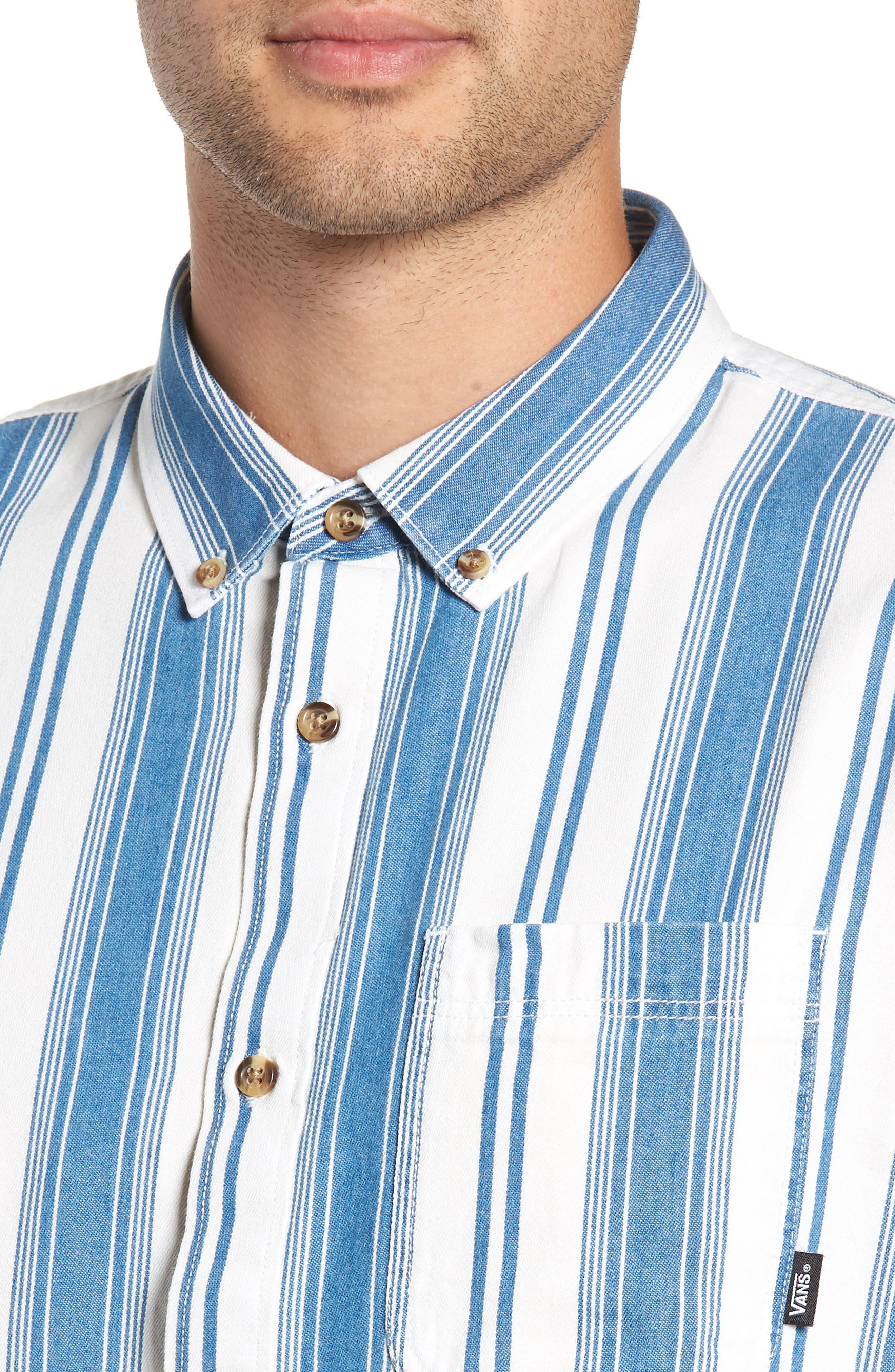 Linden Striped Woven Shirt,                             Alternate thumbnail 2, color,                             INDIGO