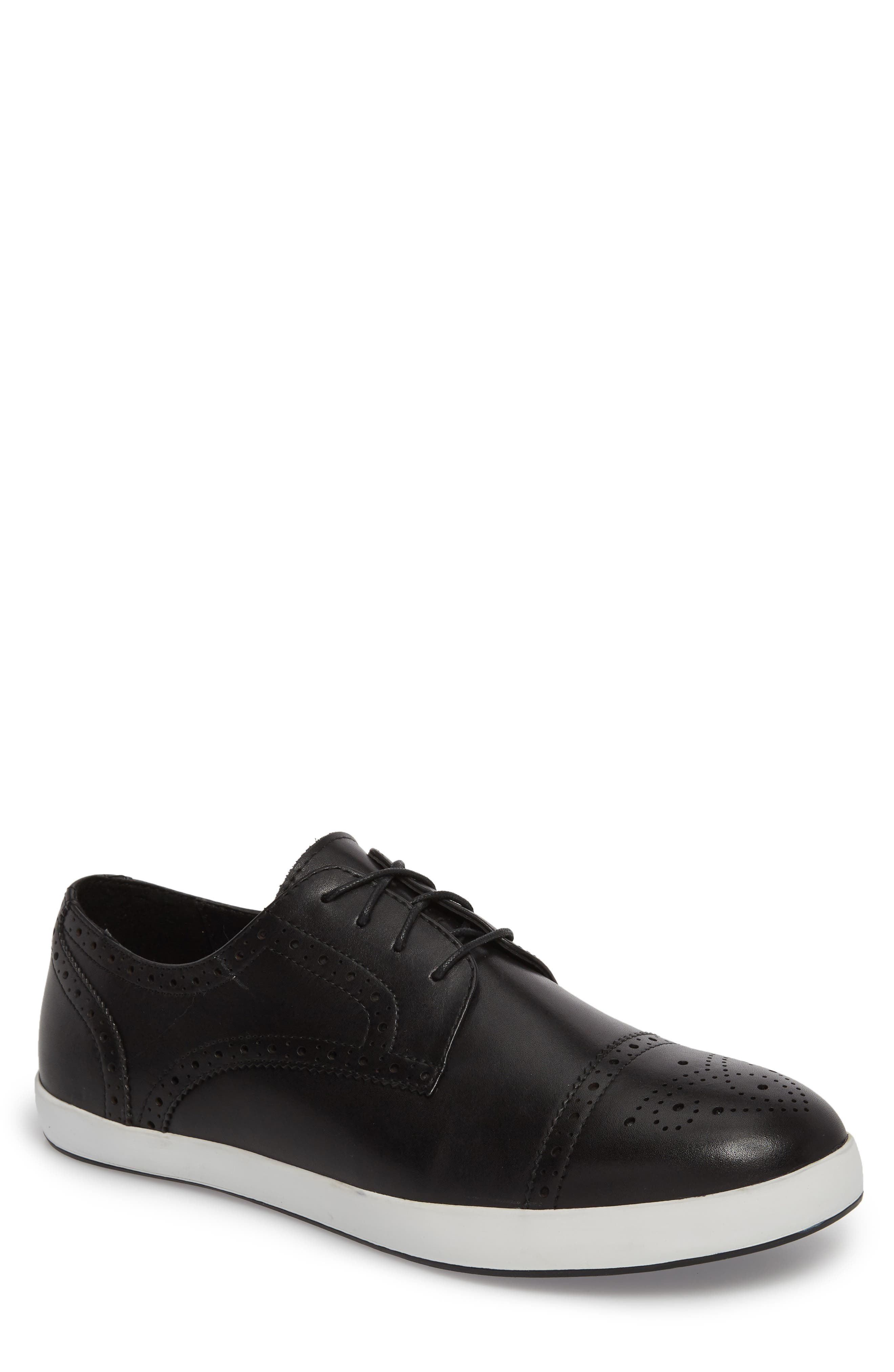 Dunnet Cap Toe Sneaker,                             Main thumbnail 1, color,                             001