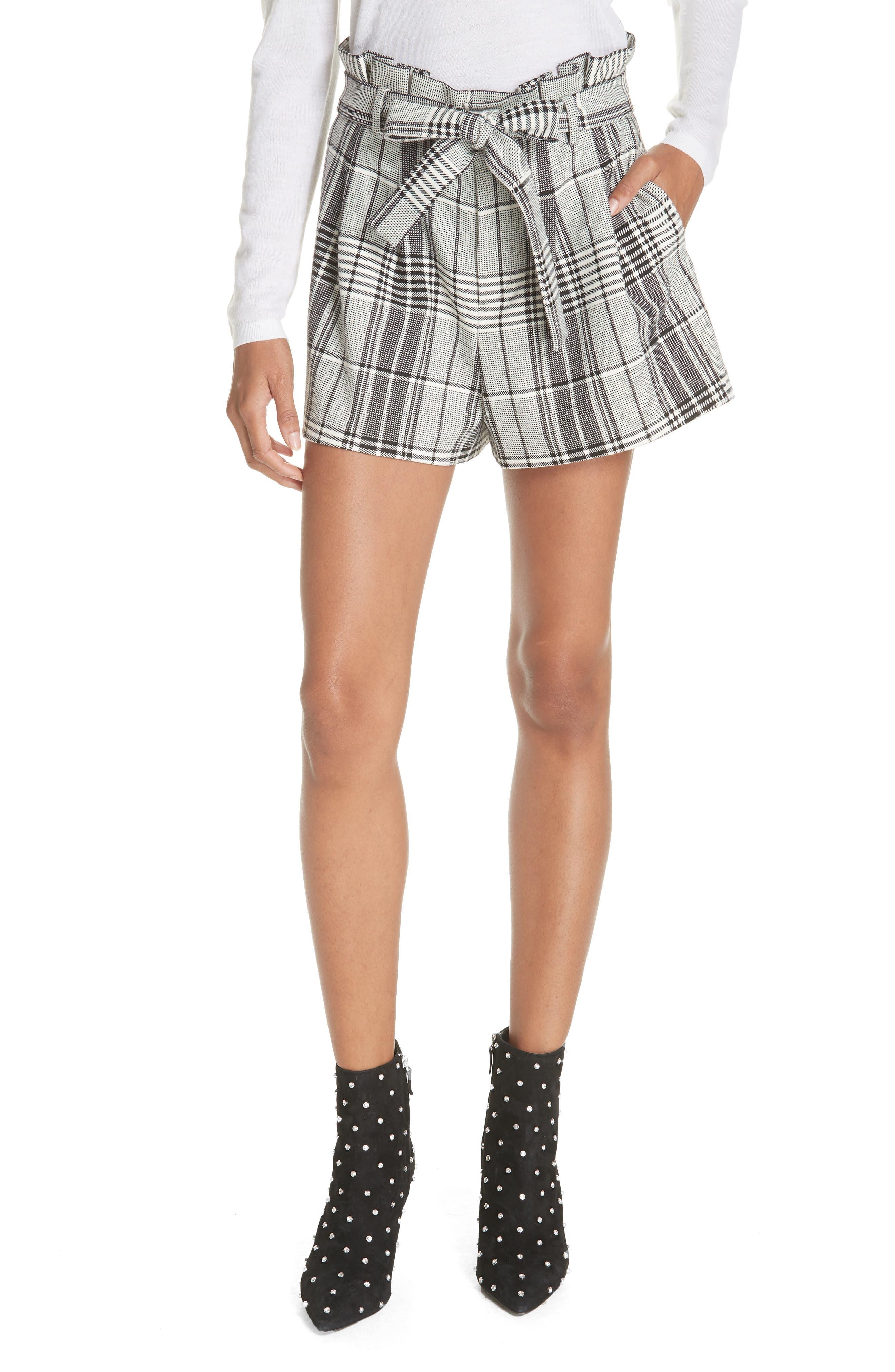 Laurine Paperbag Shorts,                             Main thumbnail 1, color,                             009