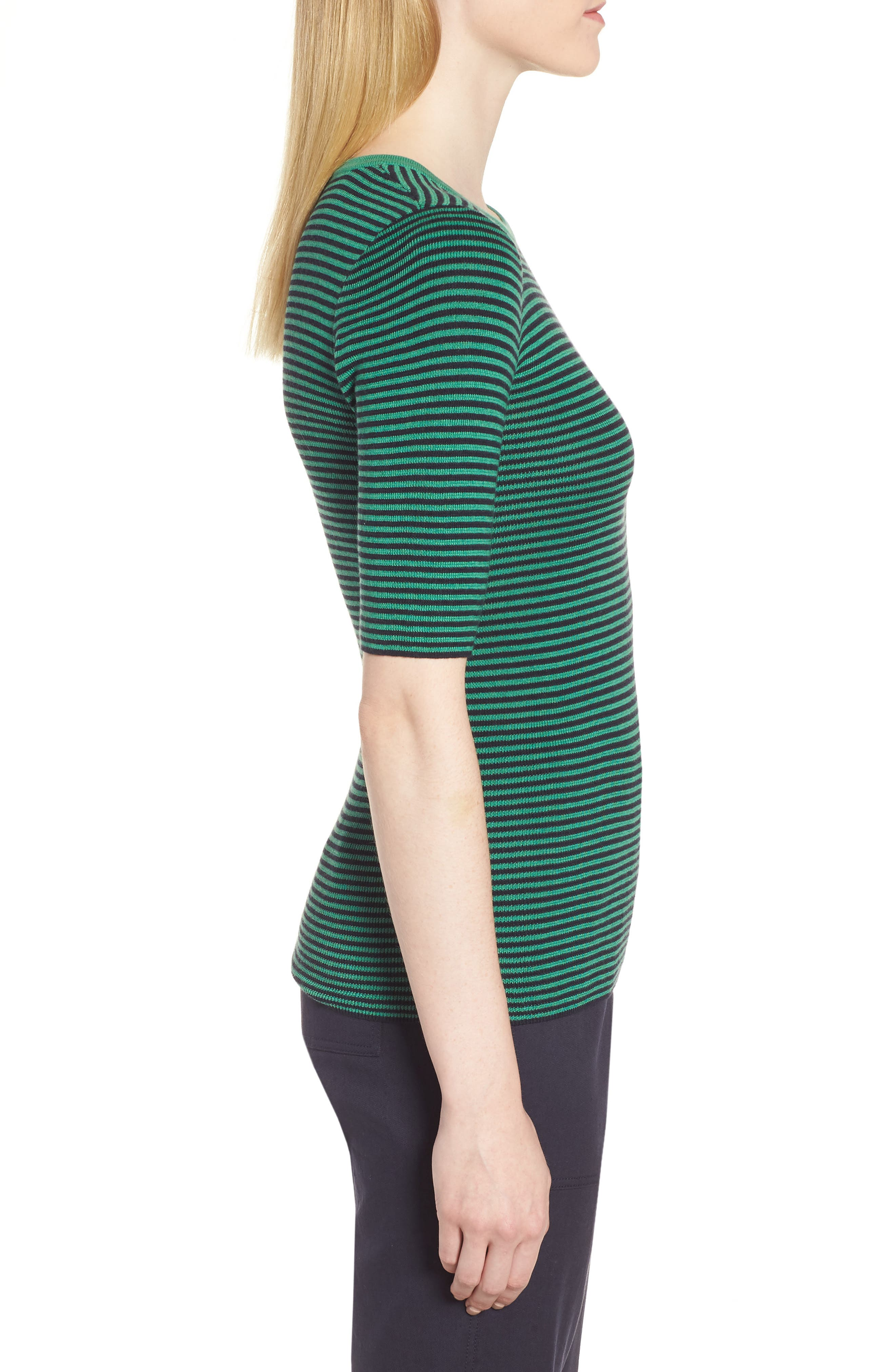 Stripe Crewneck Sweater,                             Alternate thumbnail 3, color,                             315