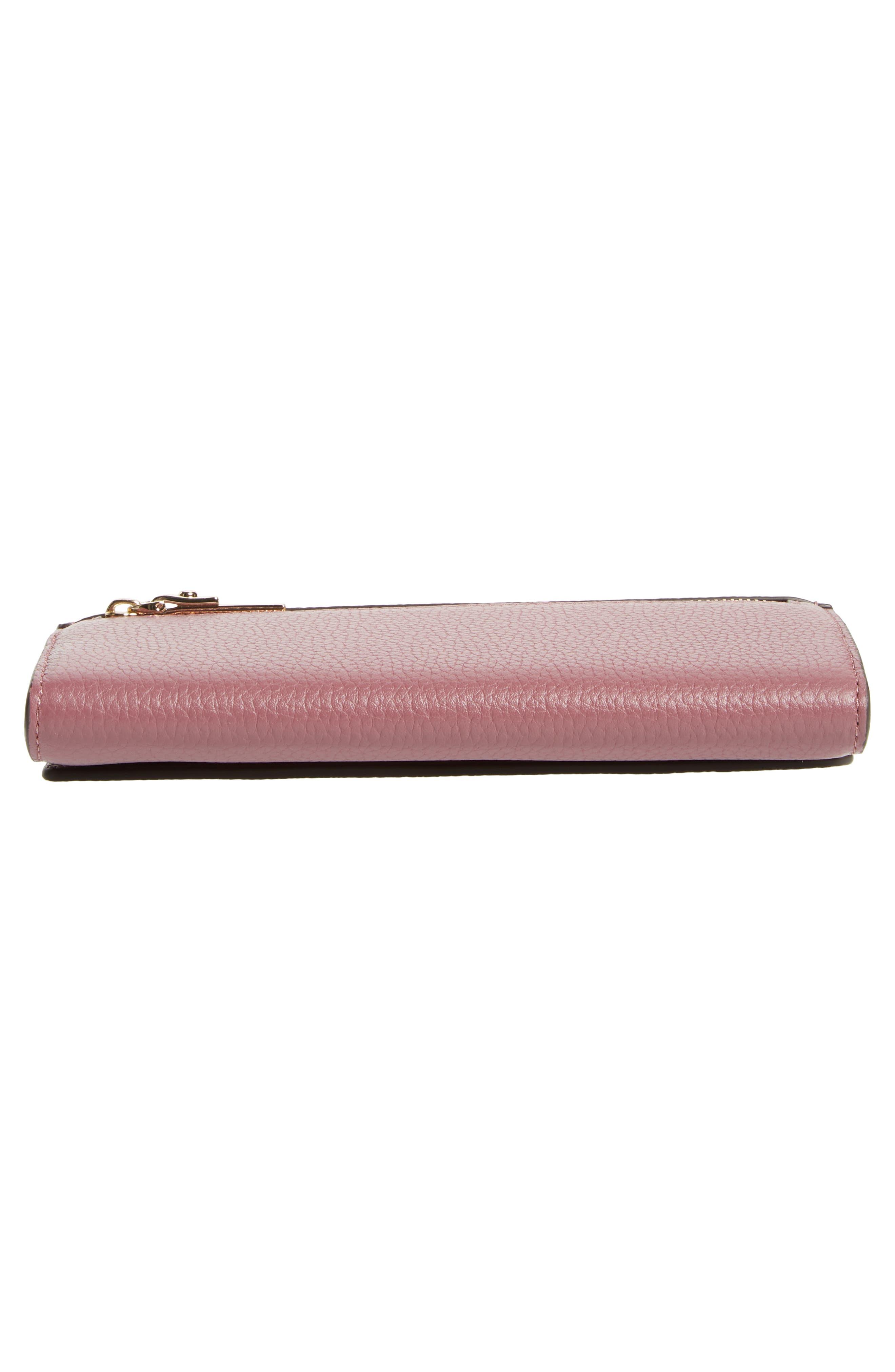 oakwood street – kinsley pebbled leather wallet,                             Alternate thumbnail 6, color,                             564