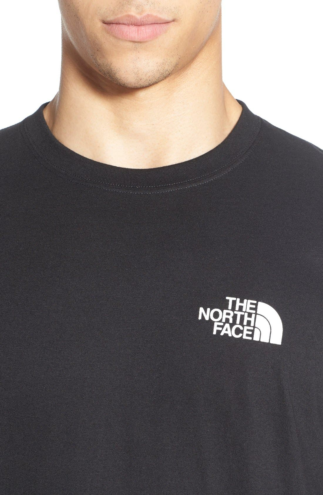 'Red Box' Graphic T-Shirt,                             Alternate thumbnail 4, color,                             TNF BLACK/ TNF WHITE