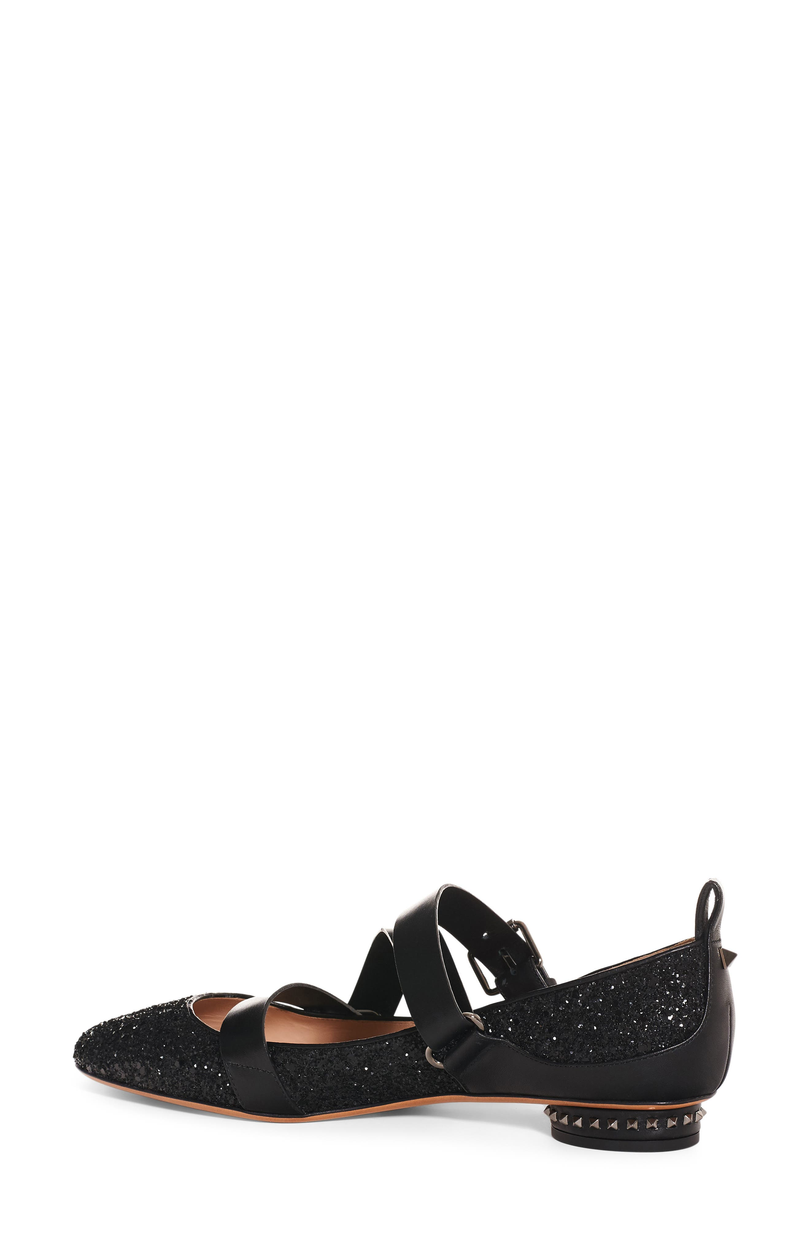 Rockstud Strappy Flat,                         Main,                         color, 001