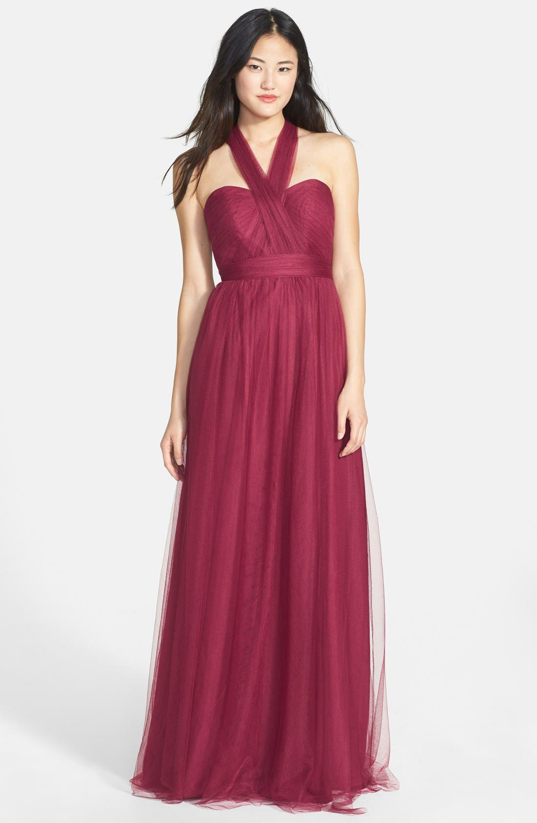Annabelle Convertible Tulle Column Dress,                             Main thumbnail 32, color,