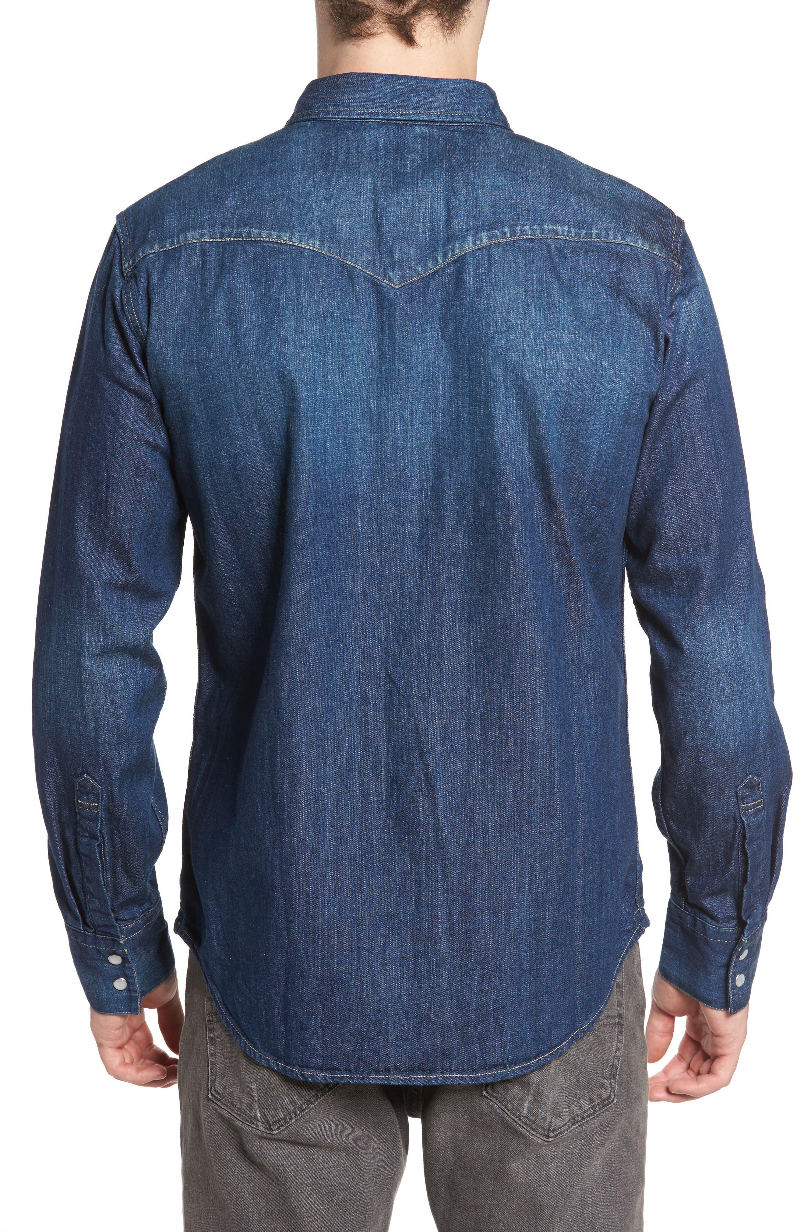 'Barstow' Denim Western Shirt,                             Alternate thumbnail 8, color,