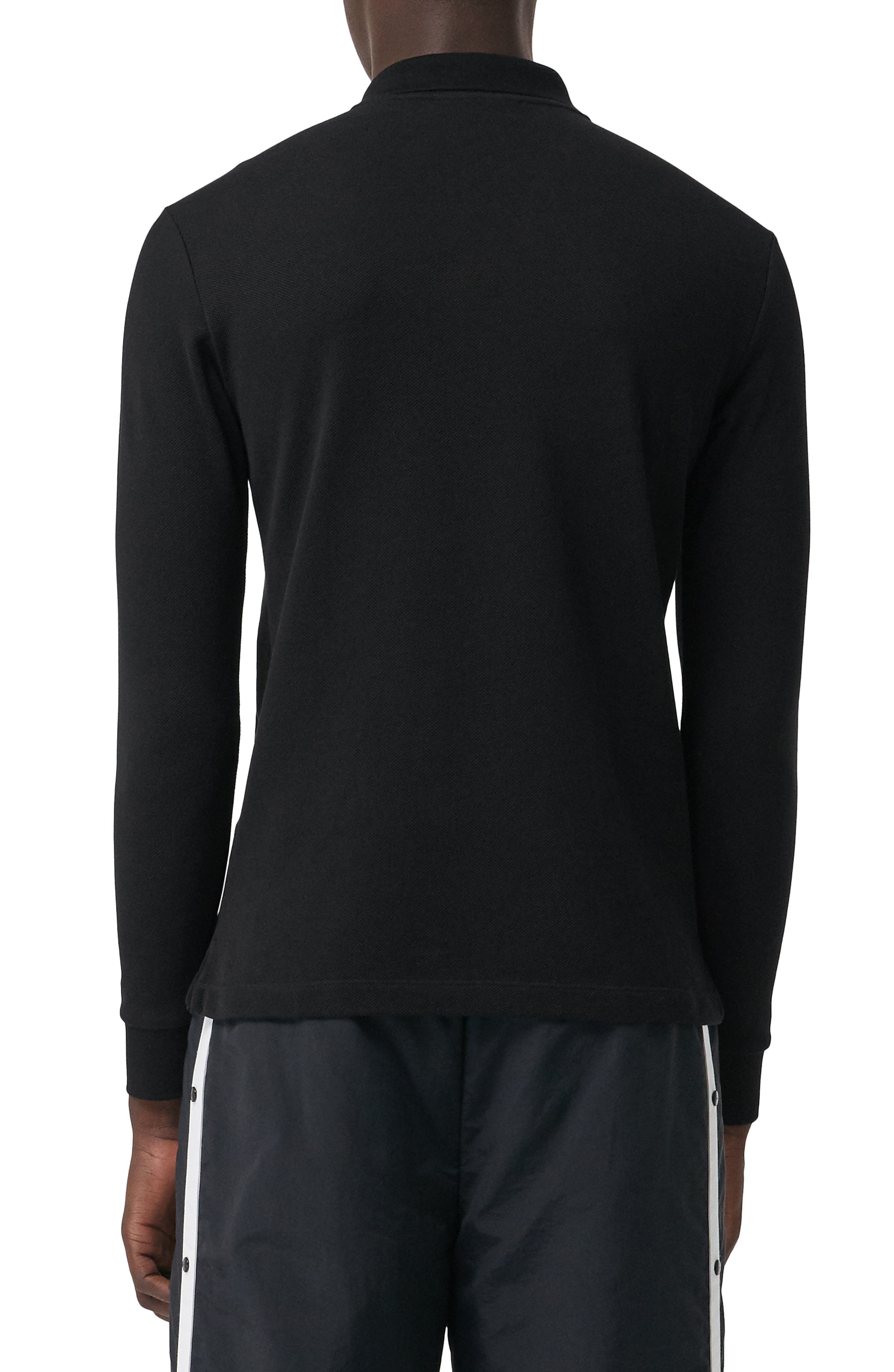 Hartford Long Sleeve Polo,                             Alternate thumbnail 2, color,                             BLACK