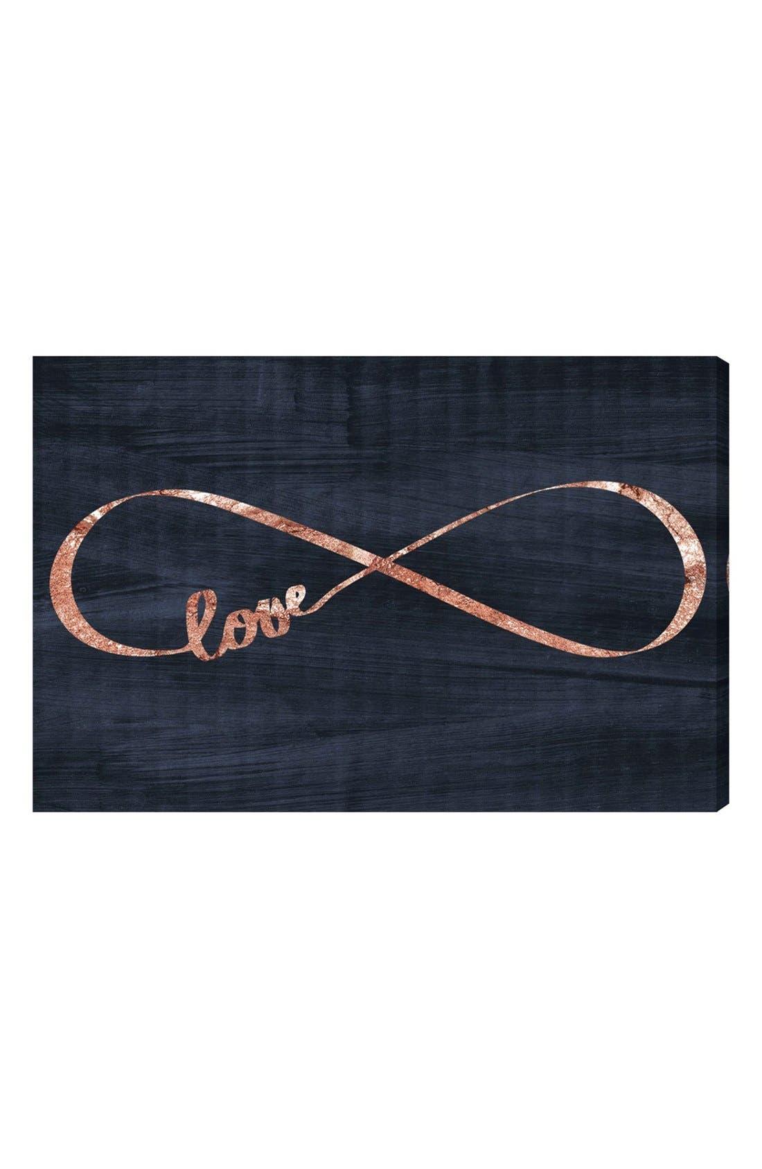 'Infinite Love' Canvas Wall Art,                             Main thumbnail 1, color,                             001
