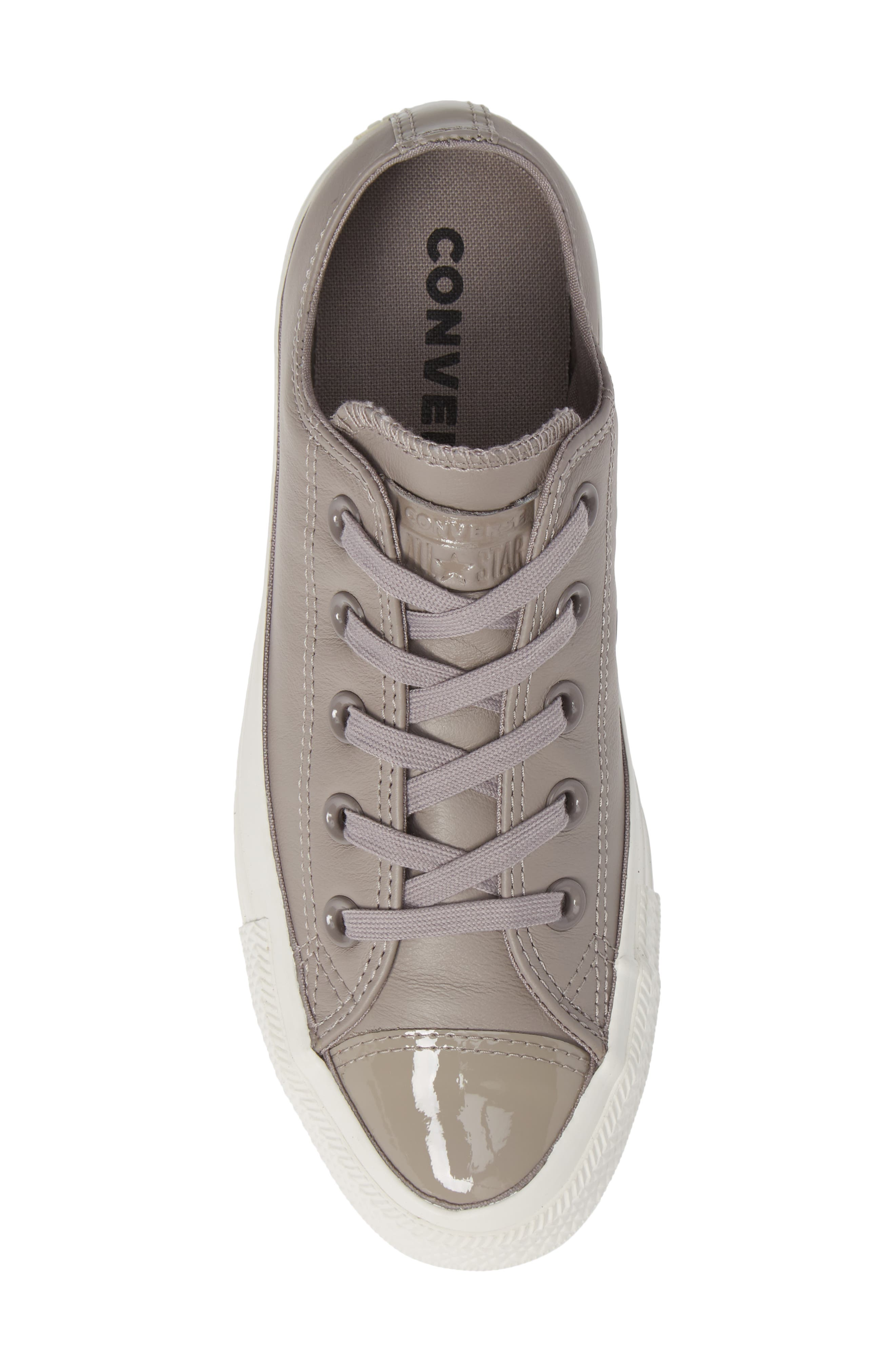 CONVERSE,                             All Star<sup>®</sup> Leather Patent Low Top Sneaker,                             Alternate thumbnail 5, color,                             020