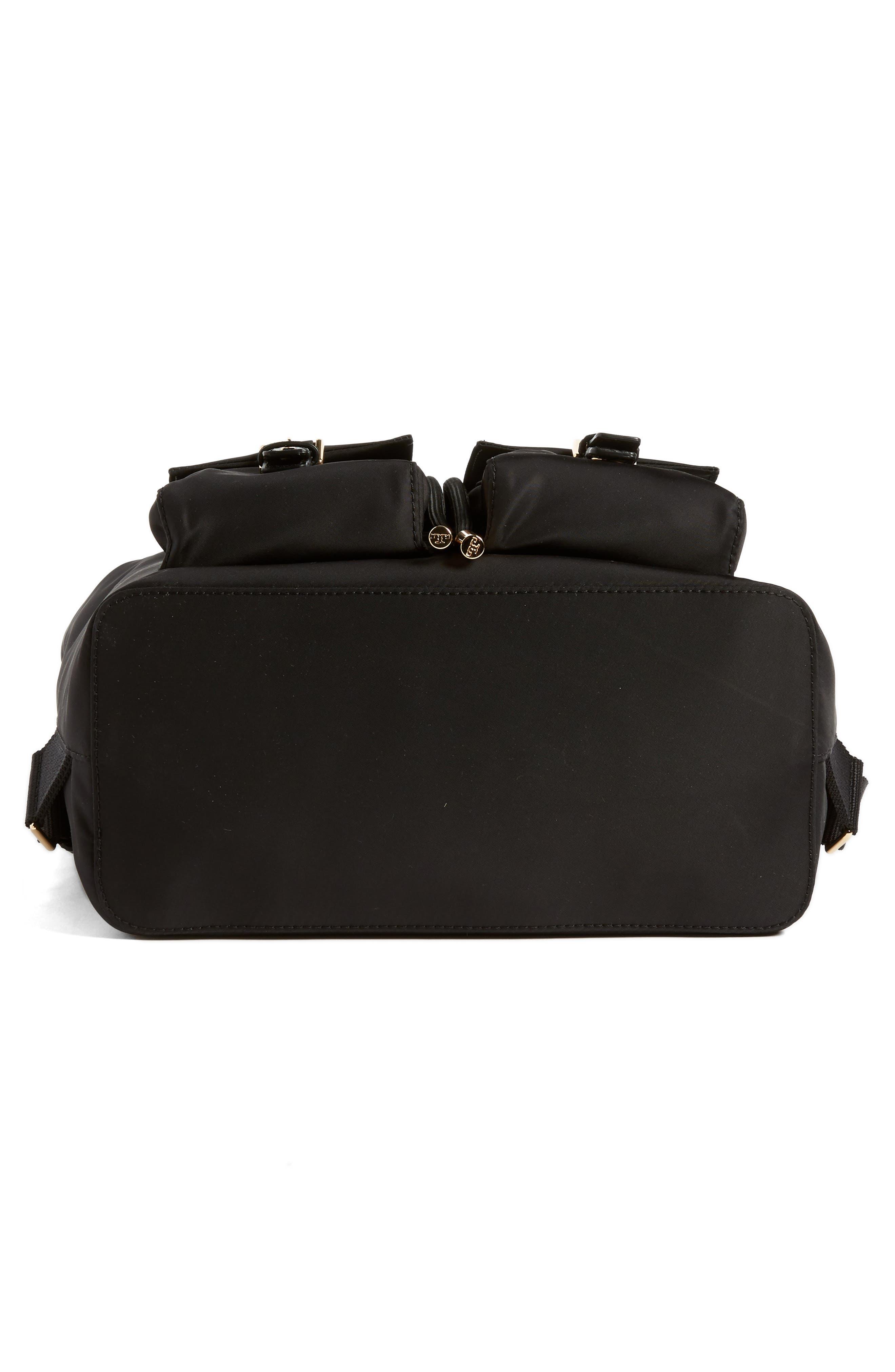 Tilda Nylon Backpack,                             Alternate thumbnail 6, color,                             BLACK