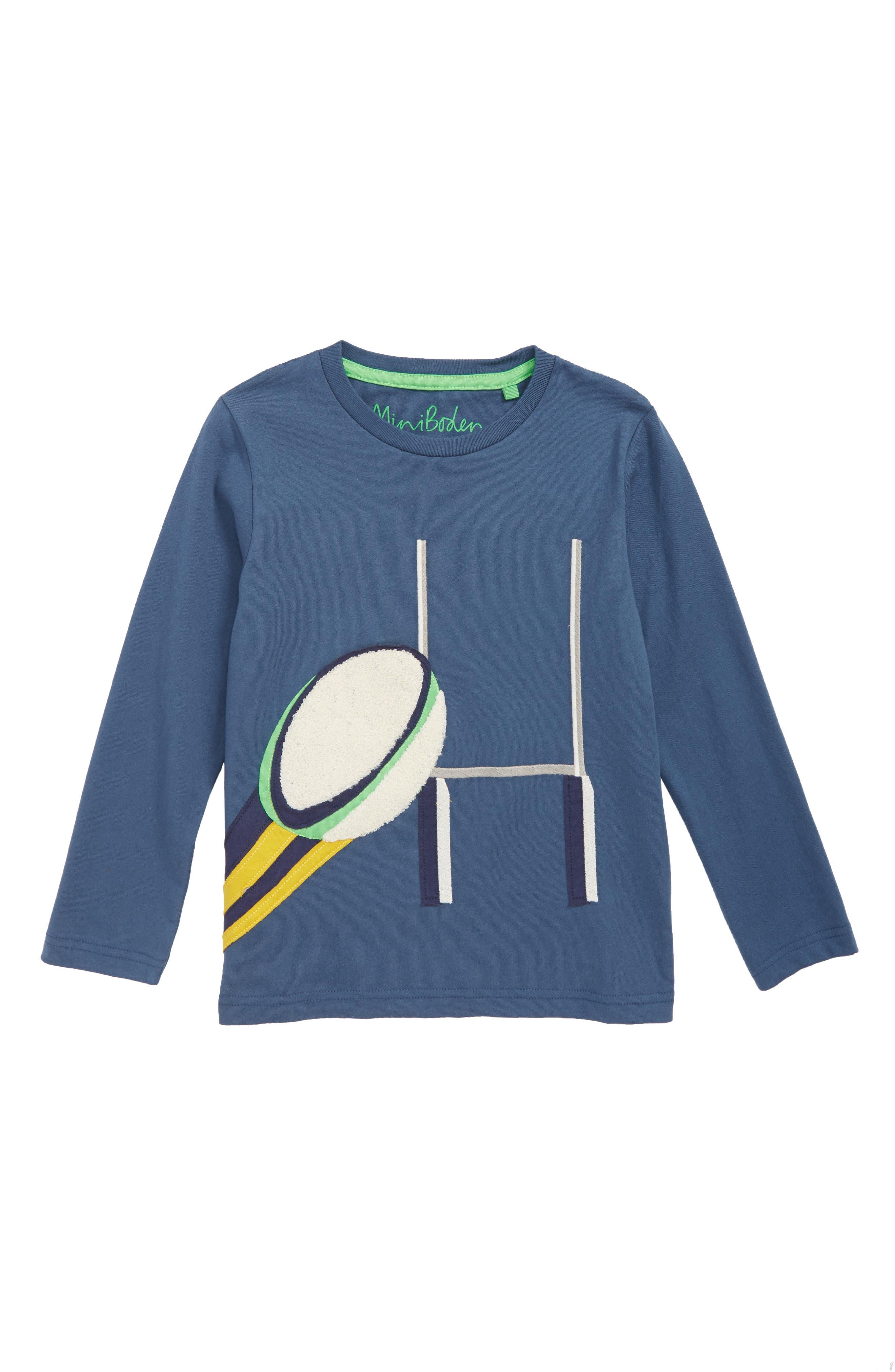 Sports Appliqué T-Shirt,                             Main thumbnail 1, color,                             ROBOT BLUE