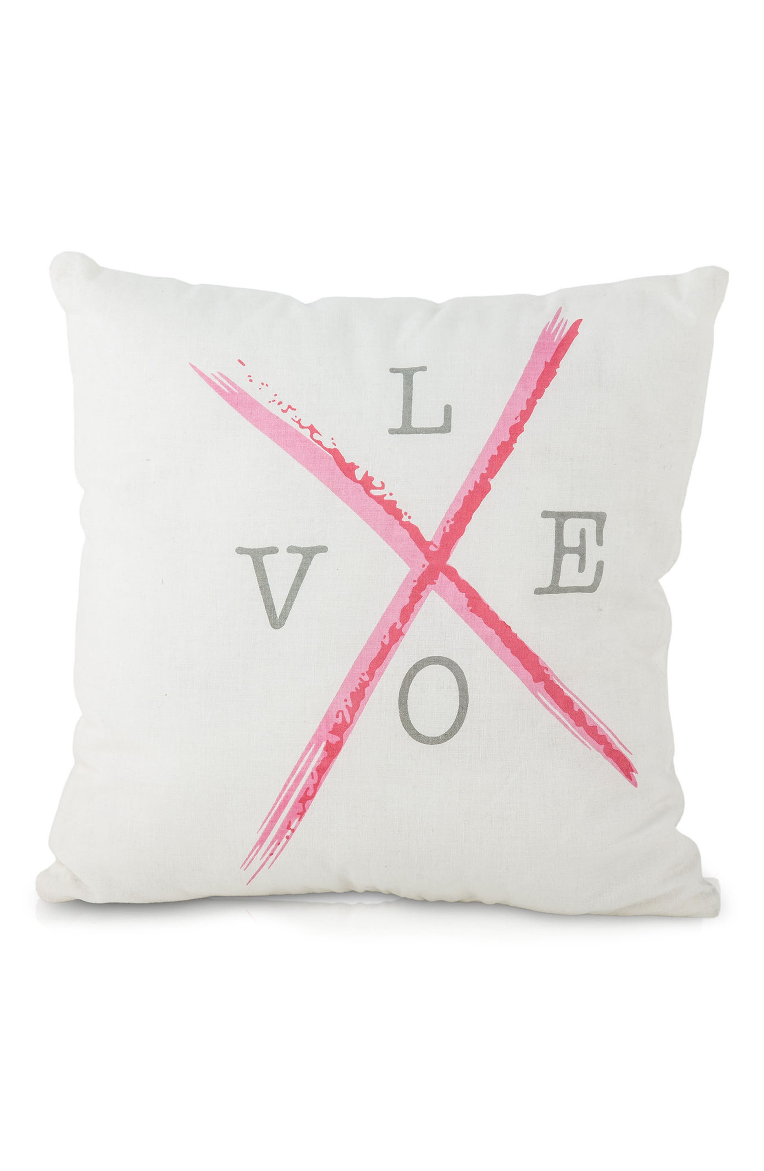 Love Accent Pillow,                             Main thumbnail 1, color,                             PINK