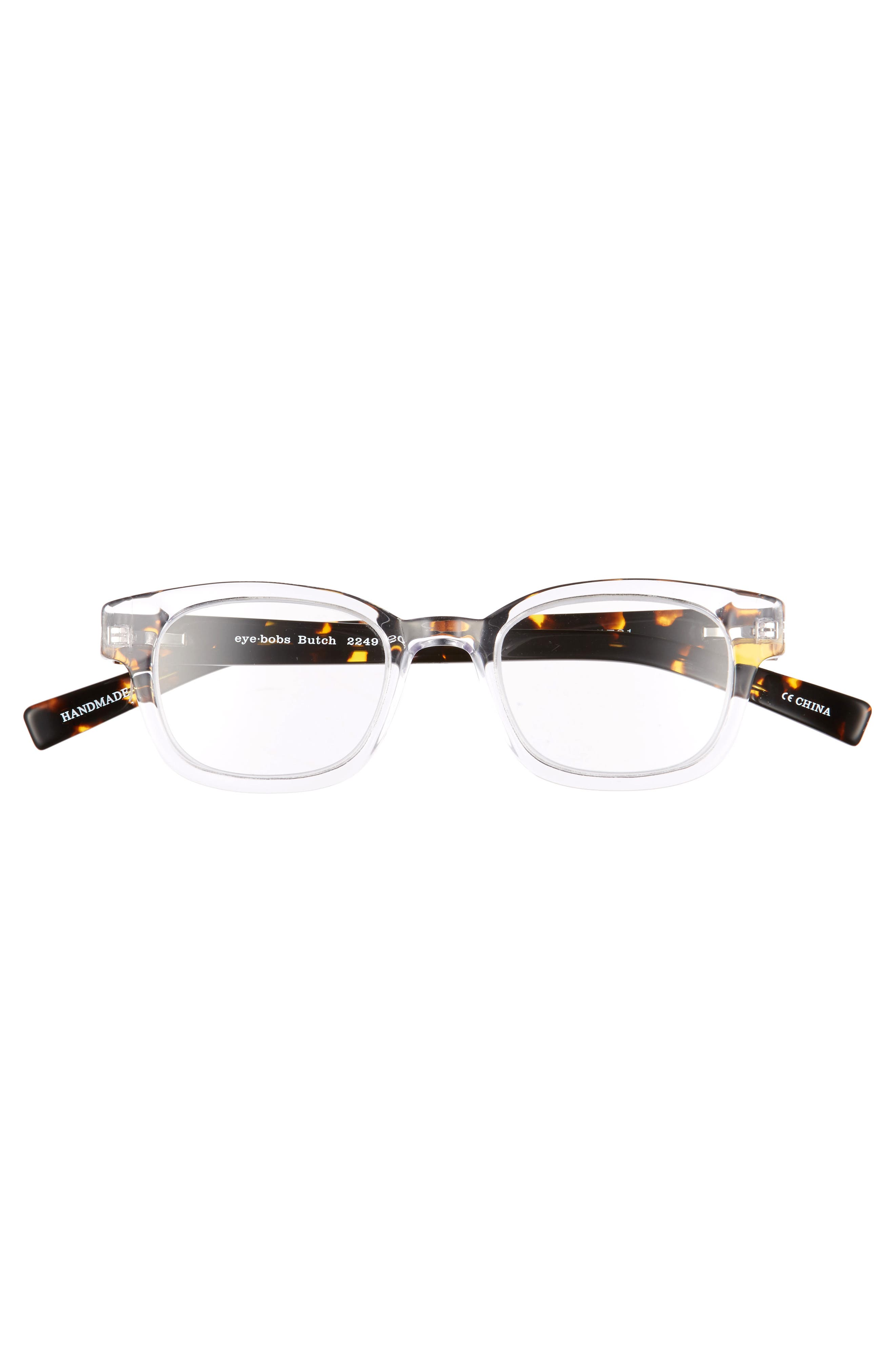 Butch 45mm Reading Glasses,                             Alternate thumbnail 2, color,                             CRYSTAL WITH TORTOISE