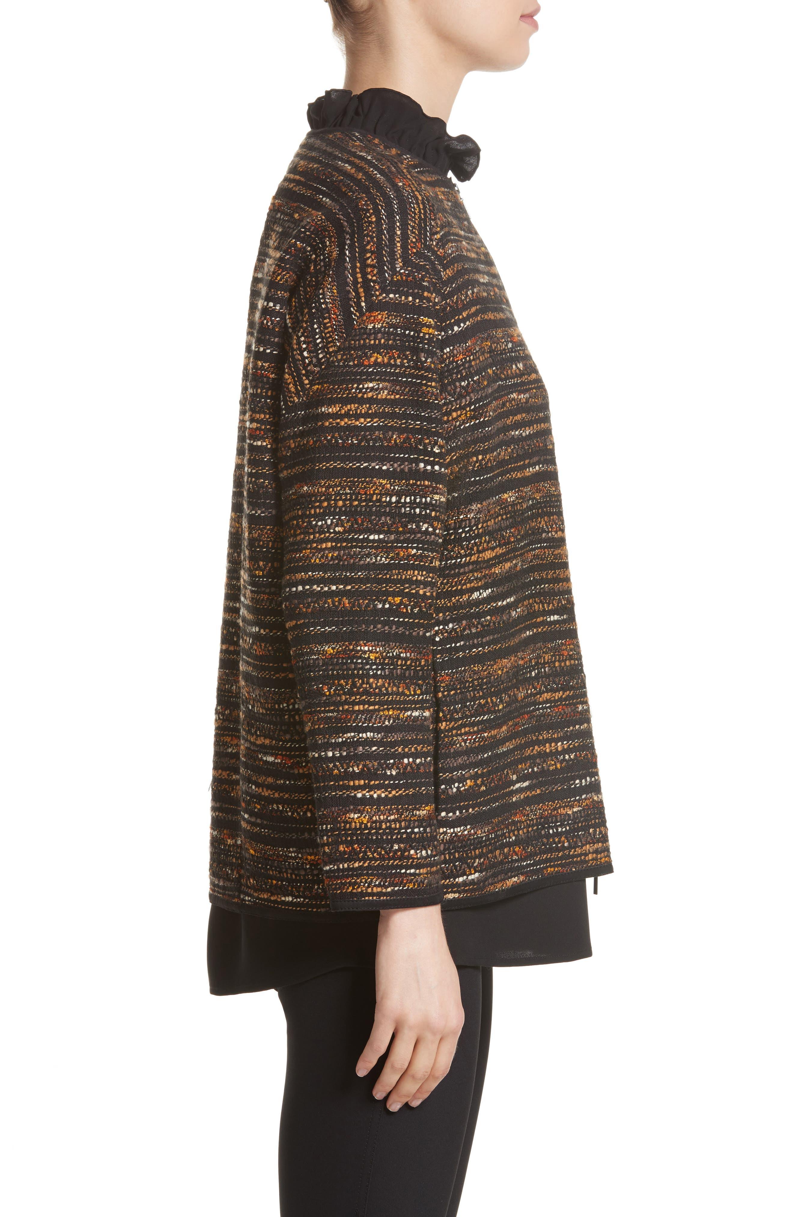 Alexa Tweed Jacket,                             Alternate thumbnail 3, color,