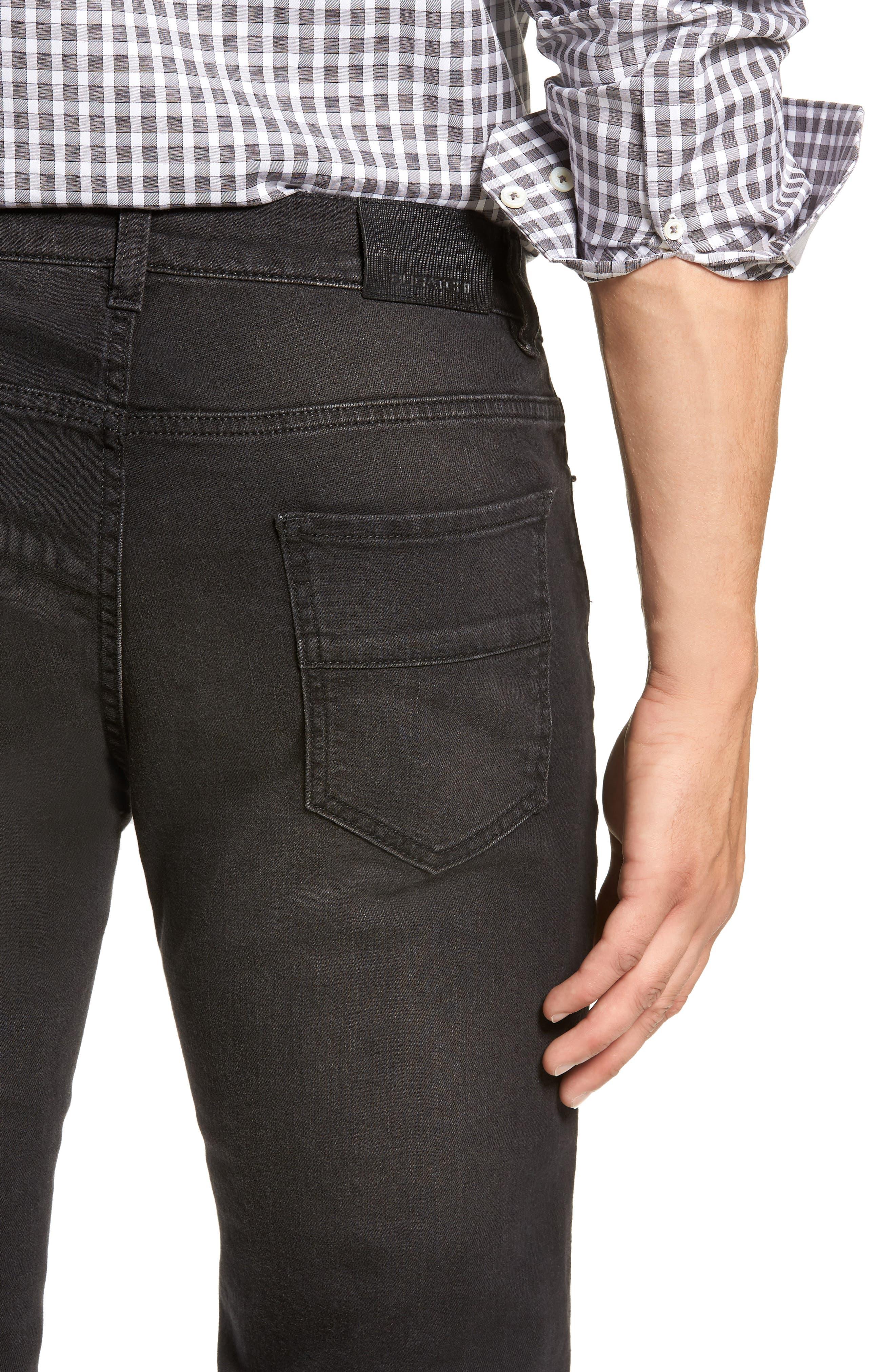 Slim Fit Jeans,                             Alternate thumbnail 4, color,                             BLACK