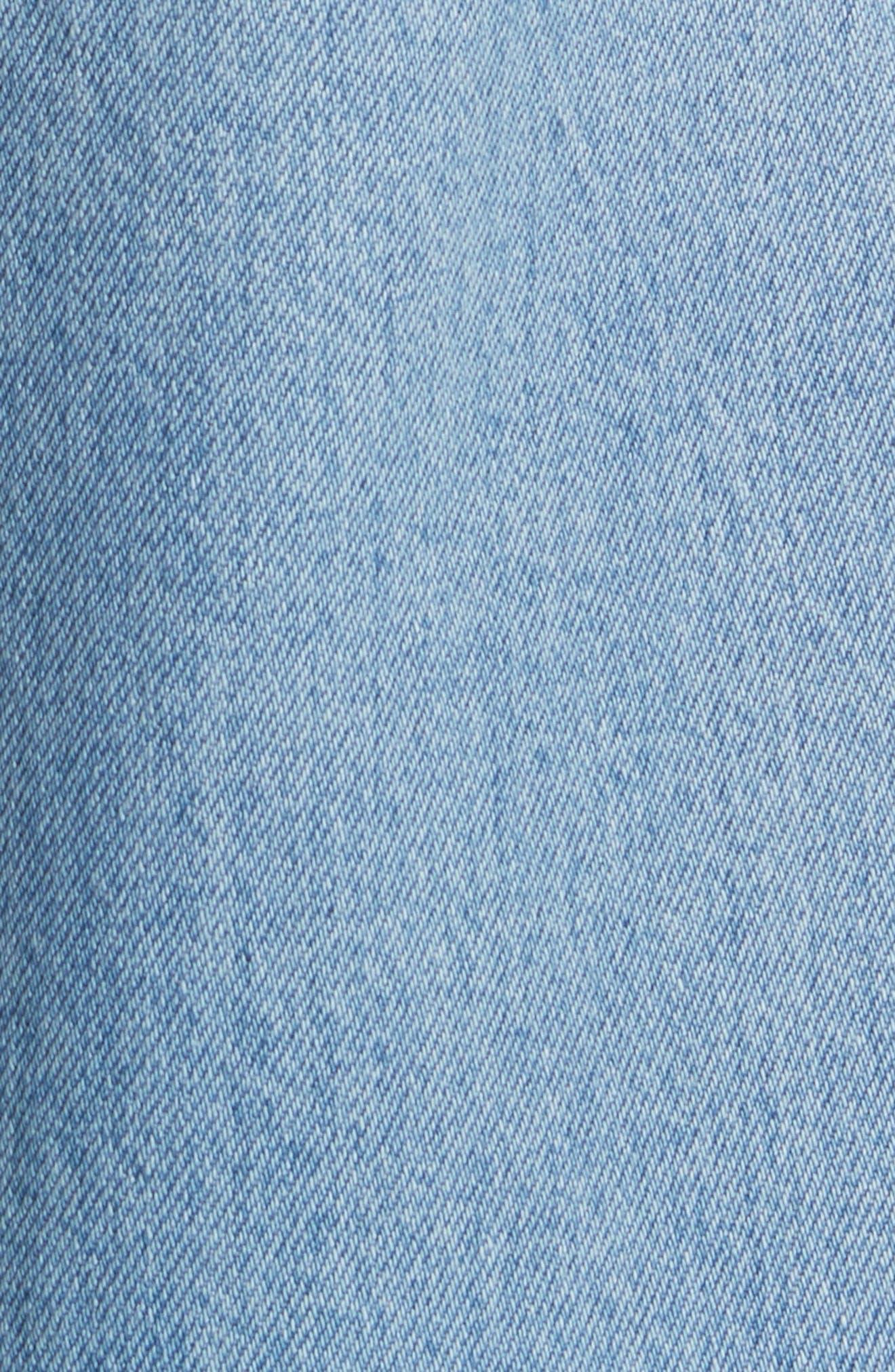 Wide Leg Carpenter Jeans,                             Alternate thumbnail 5, color,                             489
