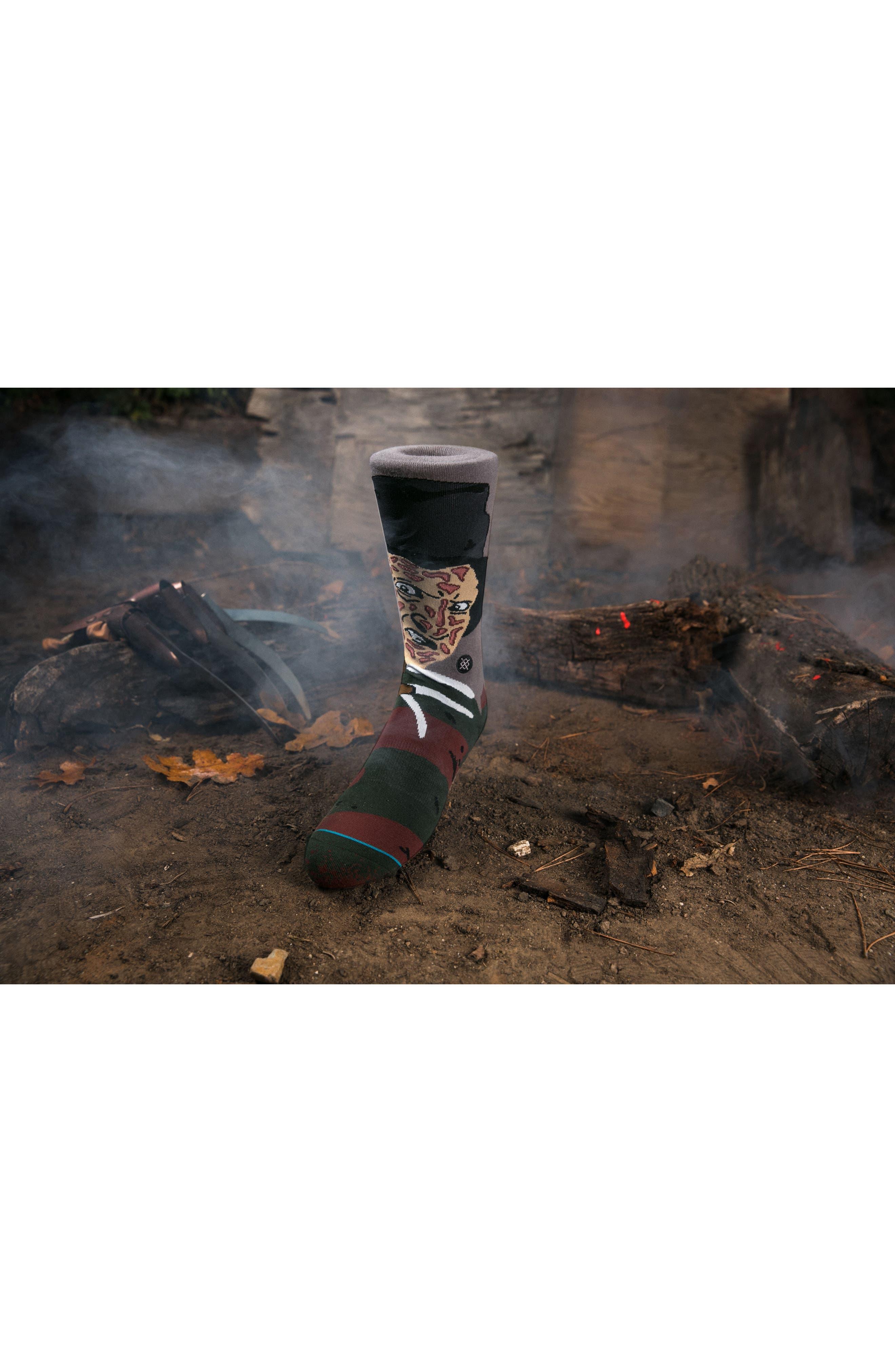 Freddy Krueger - Legends of Horror Socks,                             Alternate thumbnail 4, color,