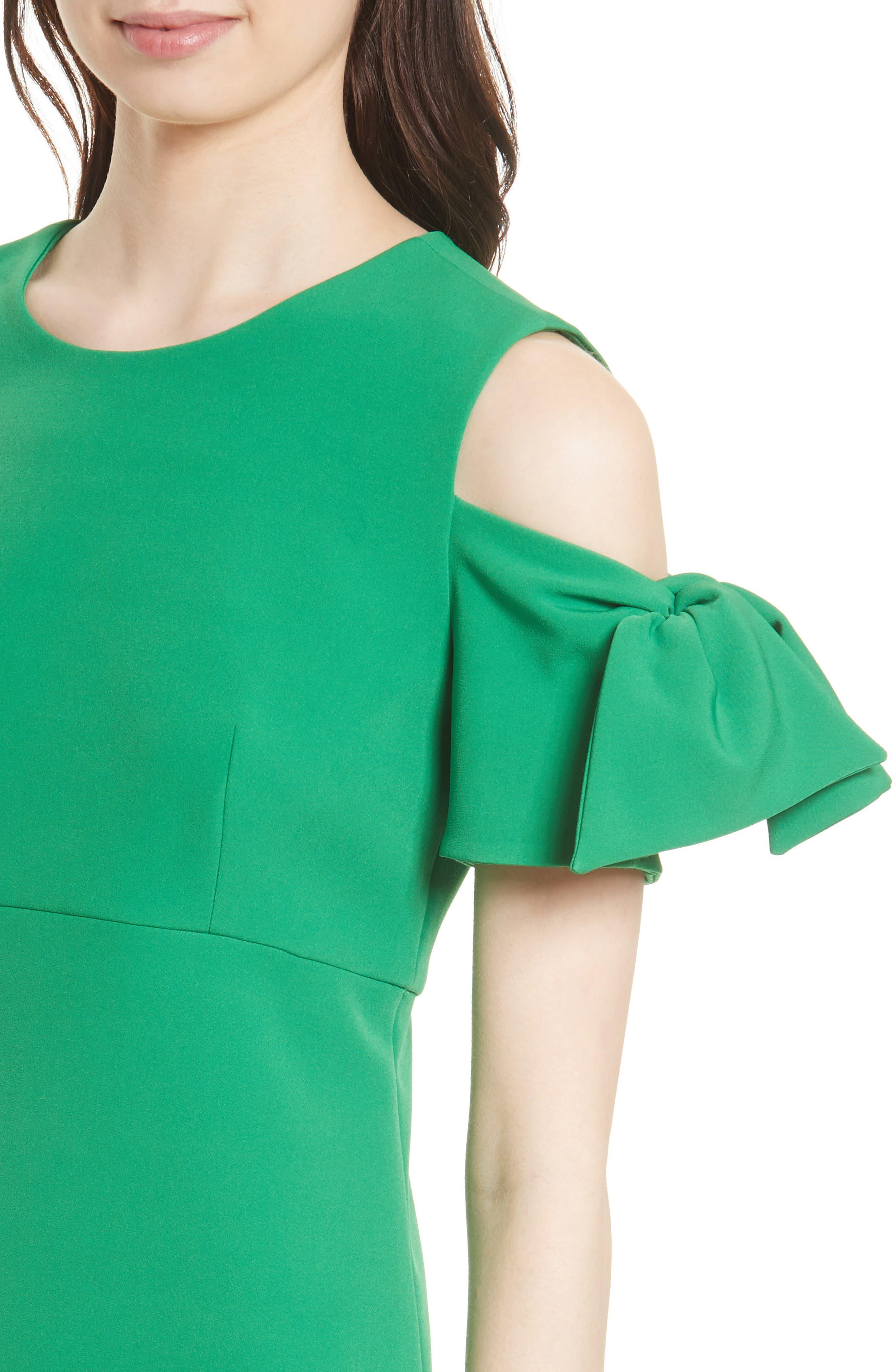 Stretch Crepe Cold Shoulder Minidress,                             Alternate thumbnail 11, color,