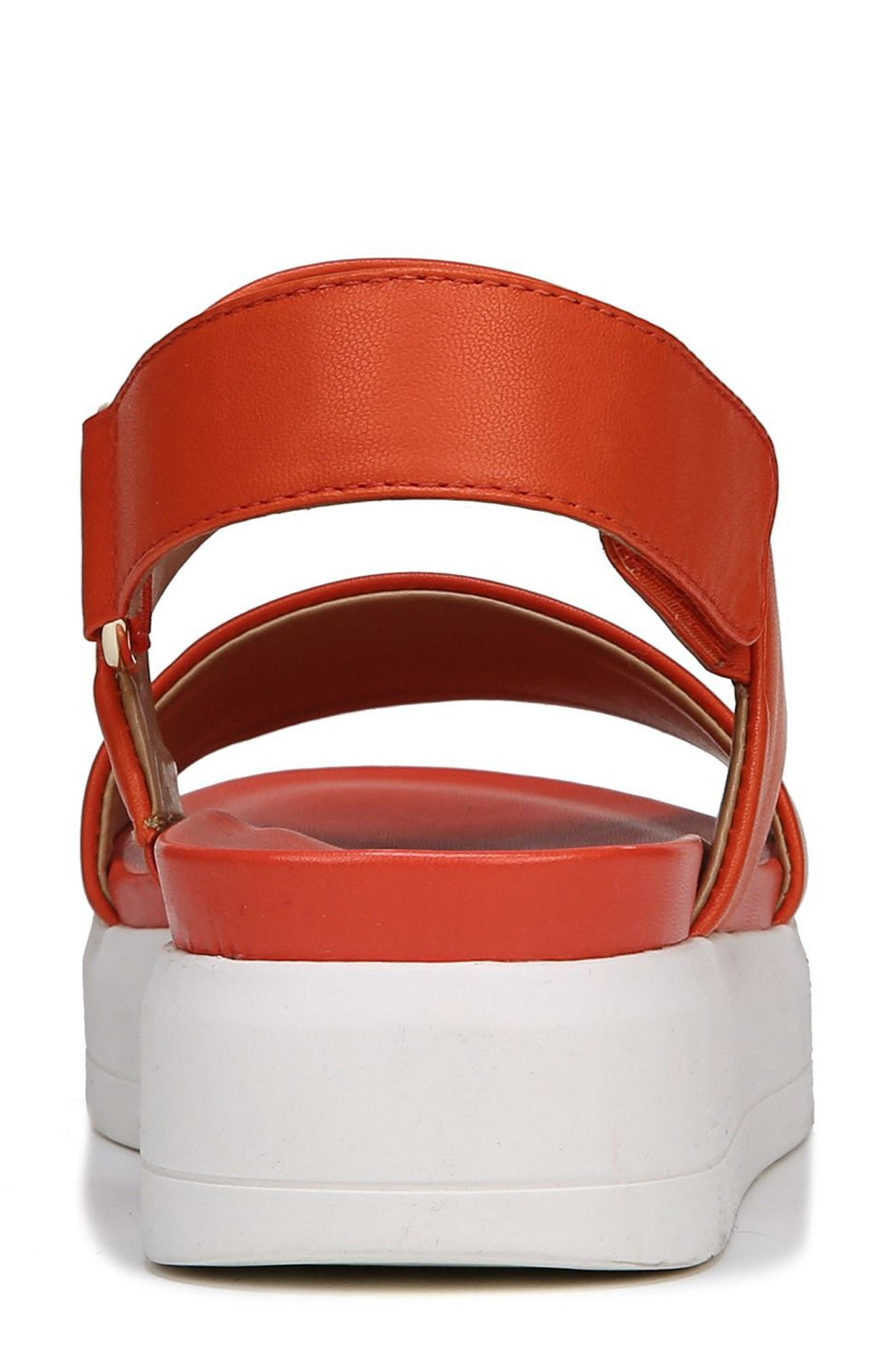 SARTO by Franco Sarto Kenan Platform Sandal,                             Alternate thumbnail 8, color,                             TANGERINE LEATHER