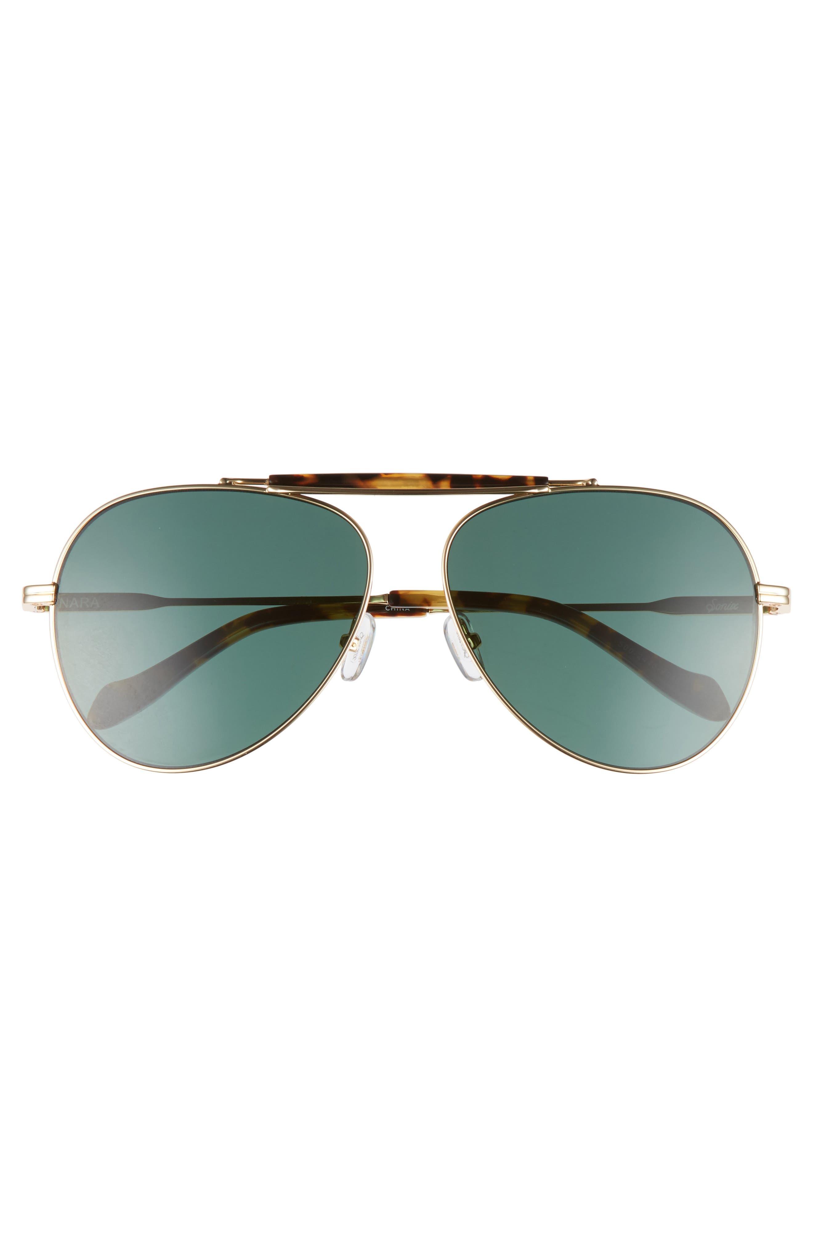 Nara 60mm Aviator Sunglasses,                             Alternate thumbnail 5, color,