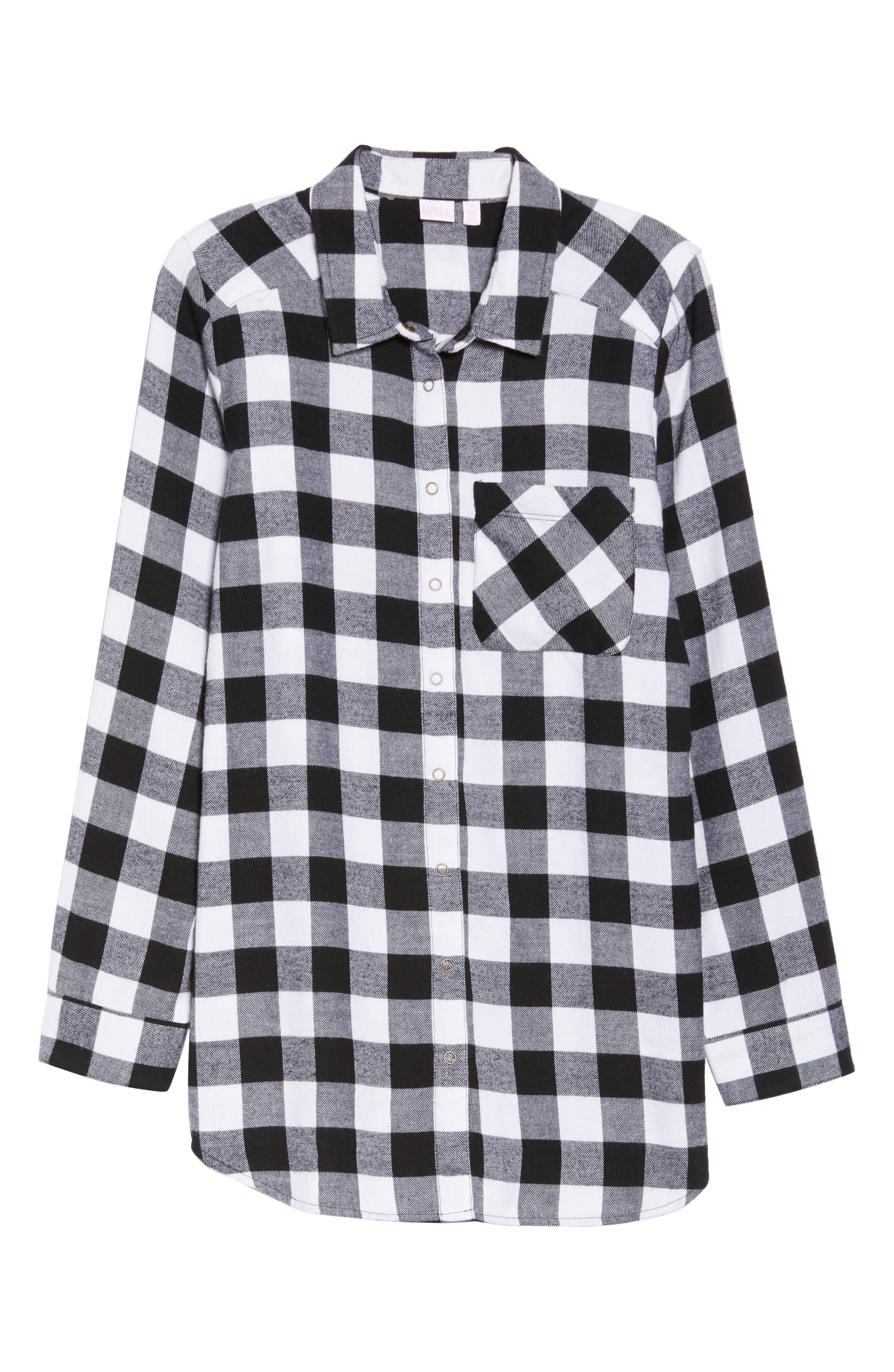 Flannel Nightshirt,                             Alternate thumbnail 6, color,                             002