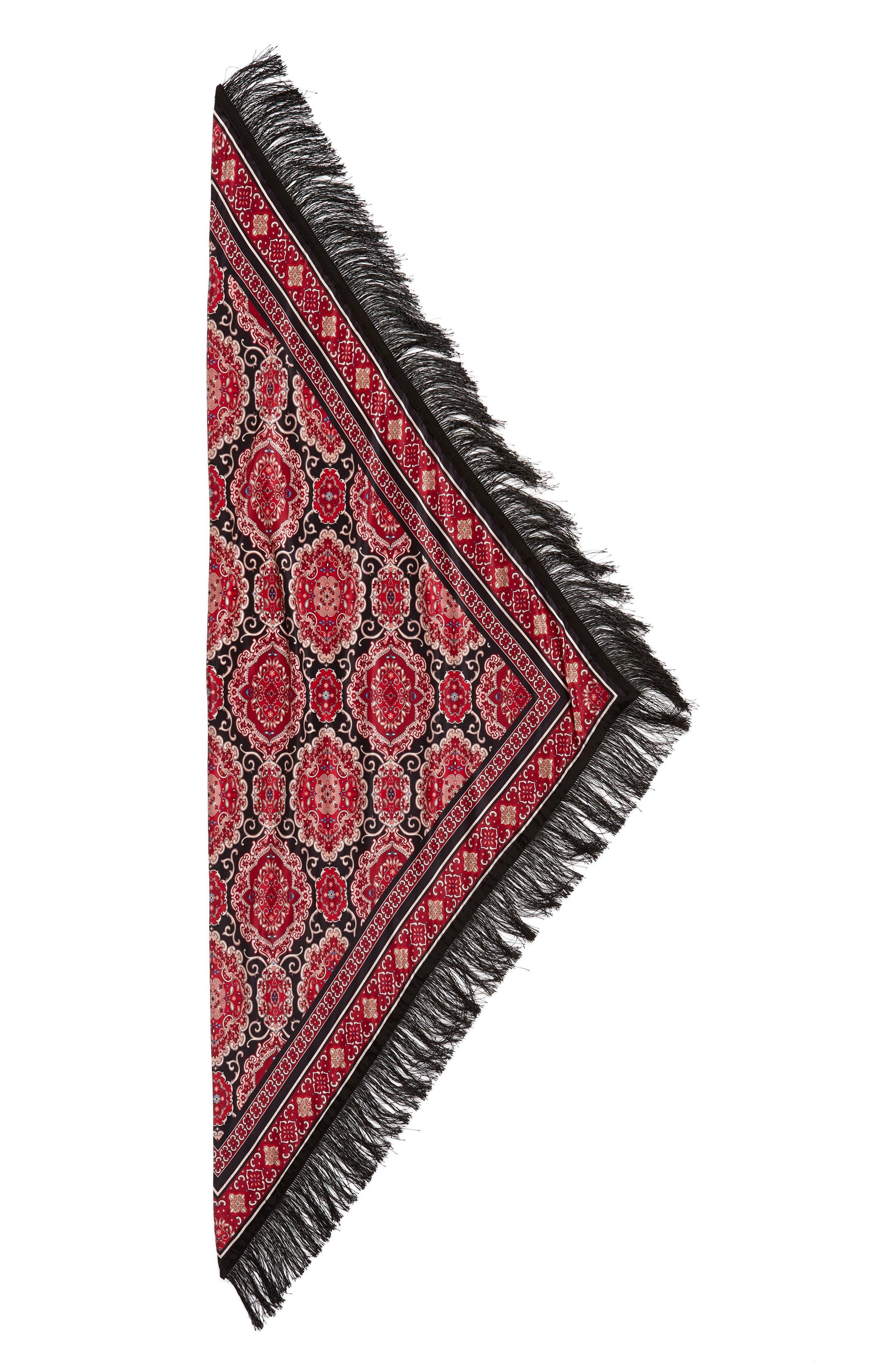 medallion piano shawl,                             Alternate thumbnail 4, color,                             BLACK