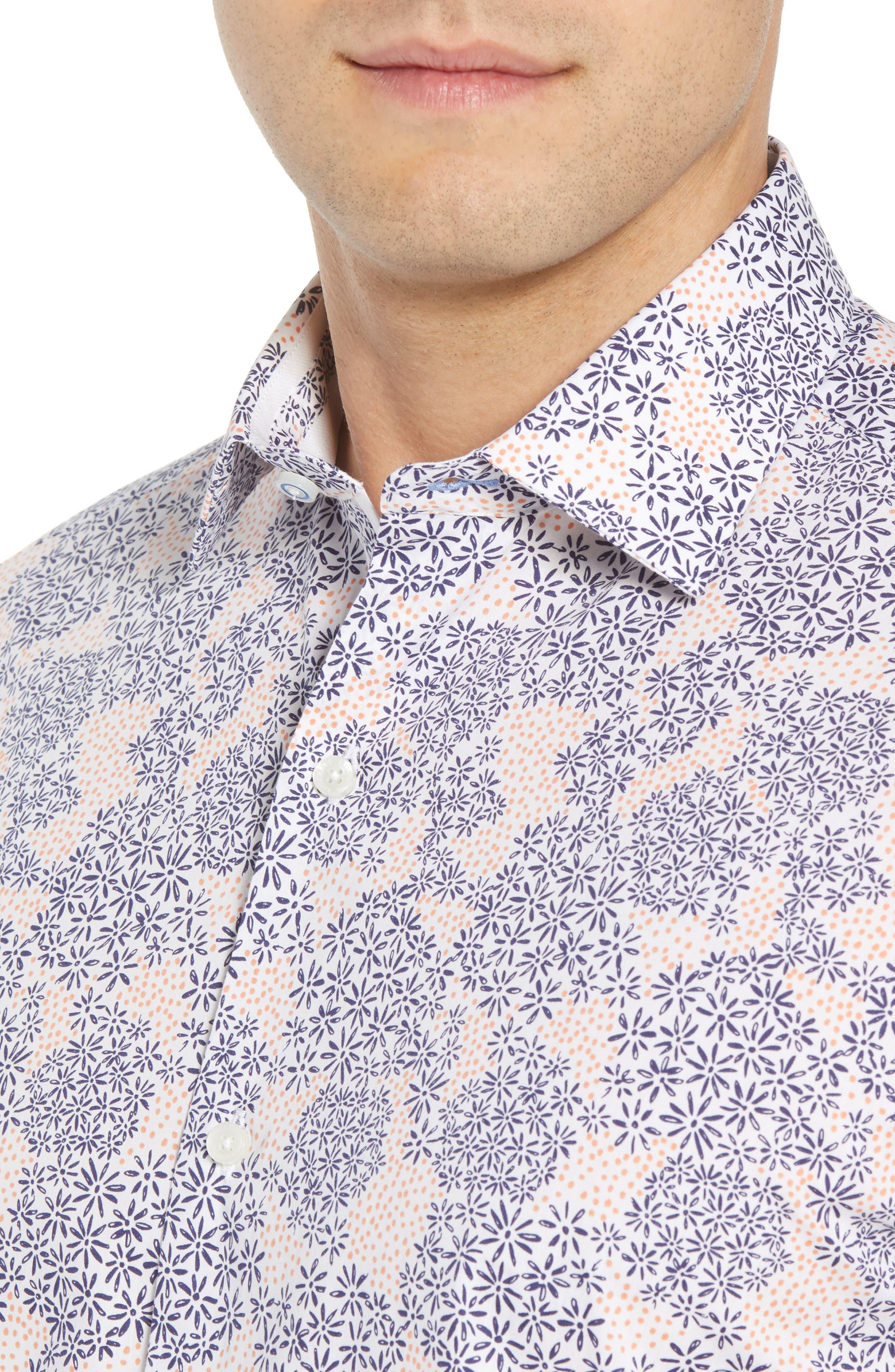 Ali Regular Fit Print Sport Shirt,                             Alternate thumbnail 4, color,