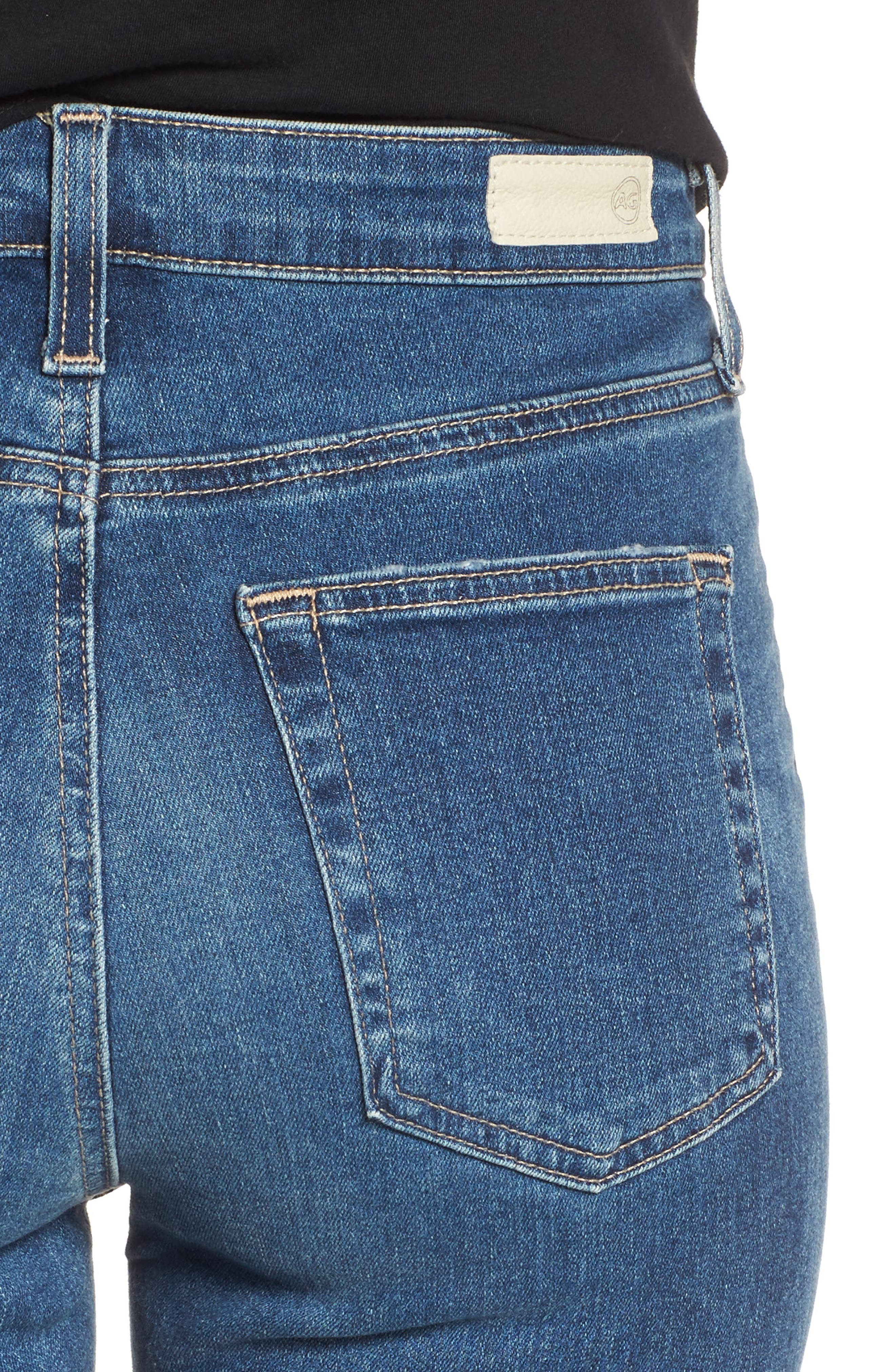 Mila Ankle Skinny Jeans,                             Alternate thumbnail 4, color,                             8 YEARS INFAMY