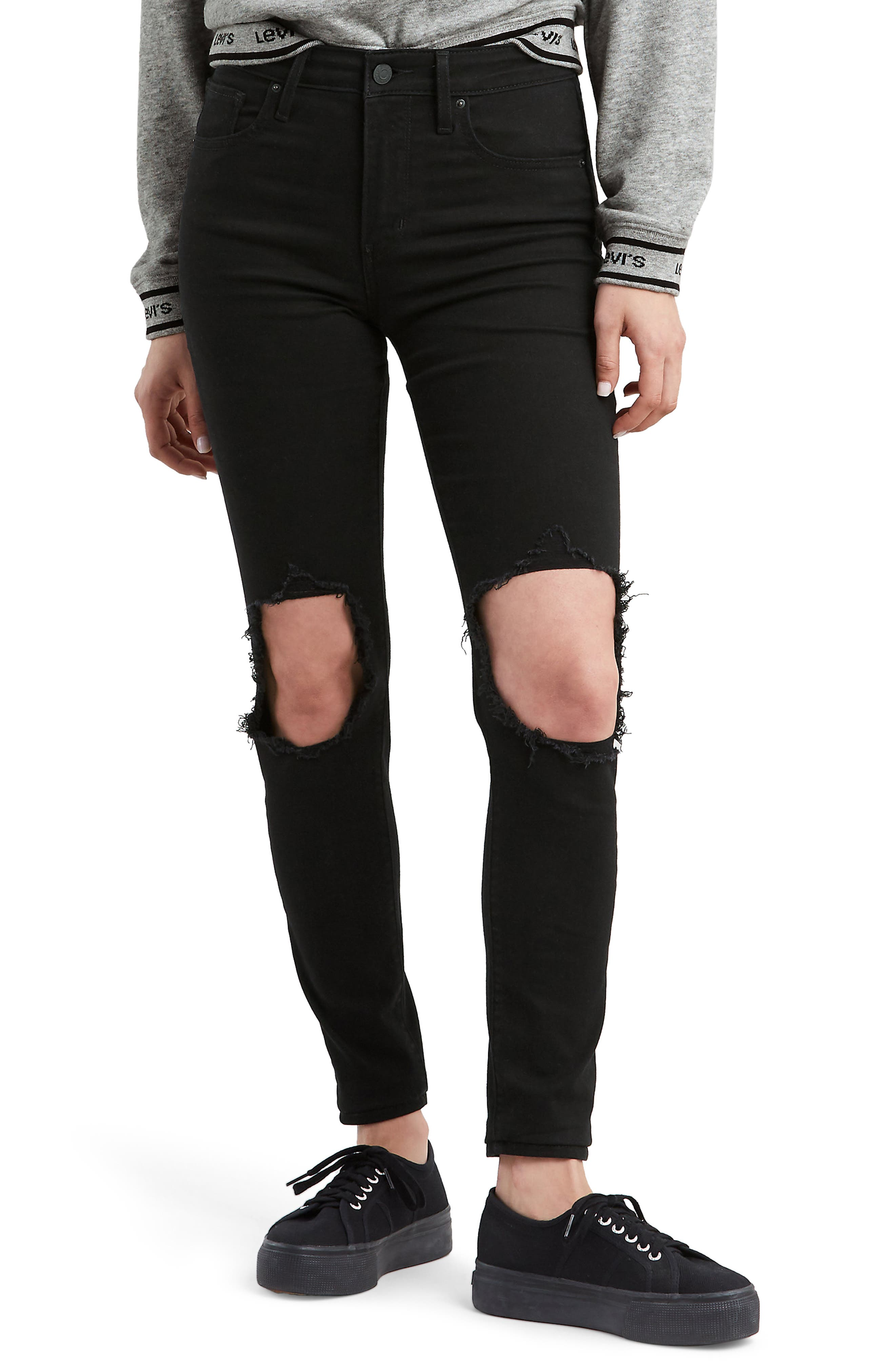 721<sup>™</sup> Ripped High Waist Skinny Jeans, Main, color, LOOKER