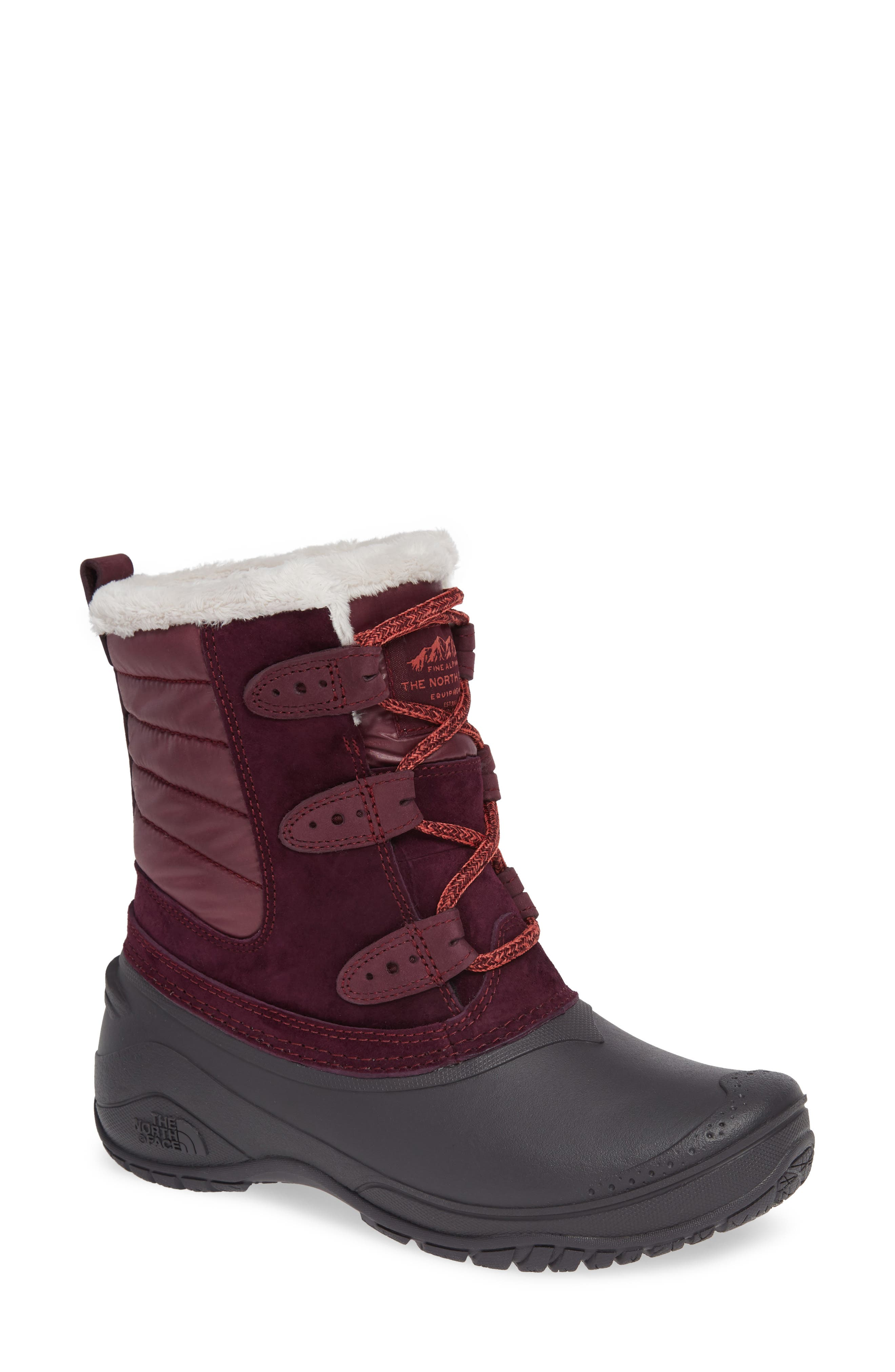 The North Face Shellista Ii Waterproof Boot, Burgundy
