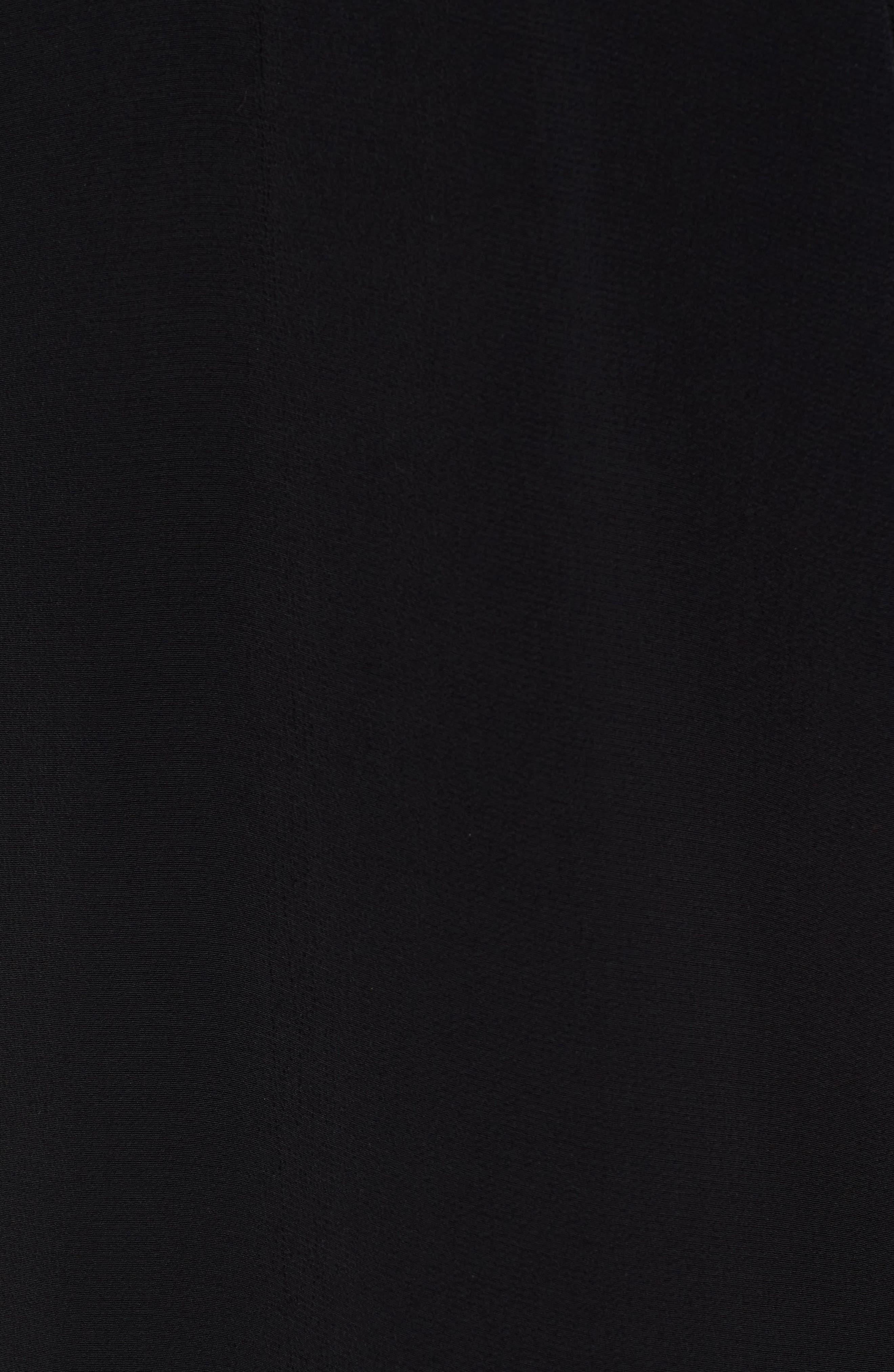 Drop Waist Tencel<sup>®</sup> Lyocell Blend Dress,                             Alternate thumbnail 6, color,                             001