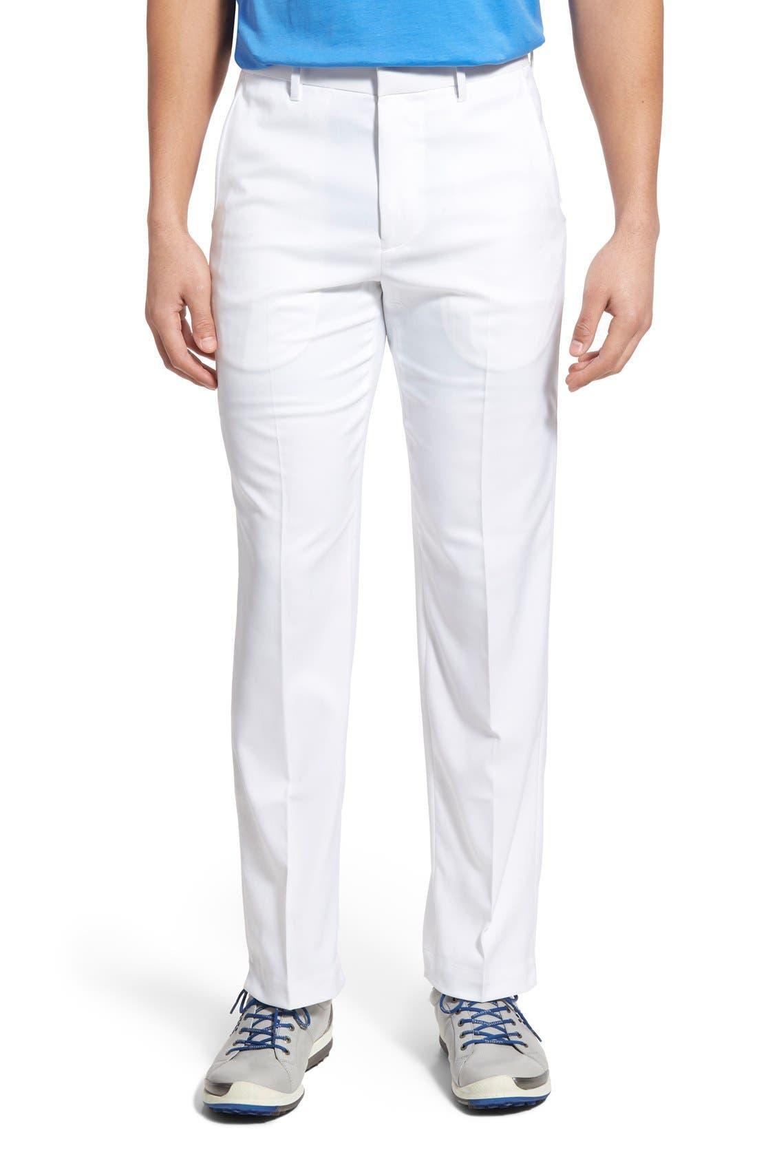 'Tech' Flat Front Wrinkle Free Golf Pants,                             Main thumbnail 4, color,