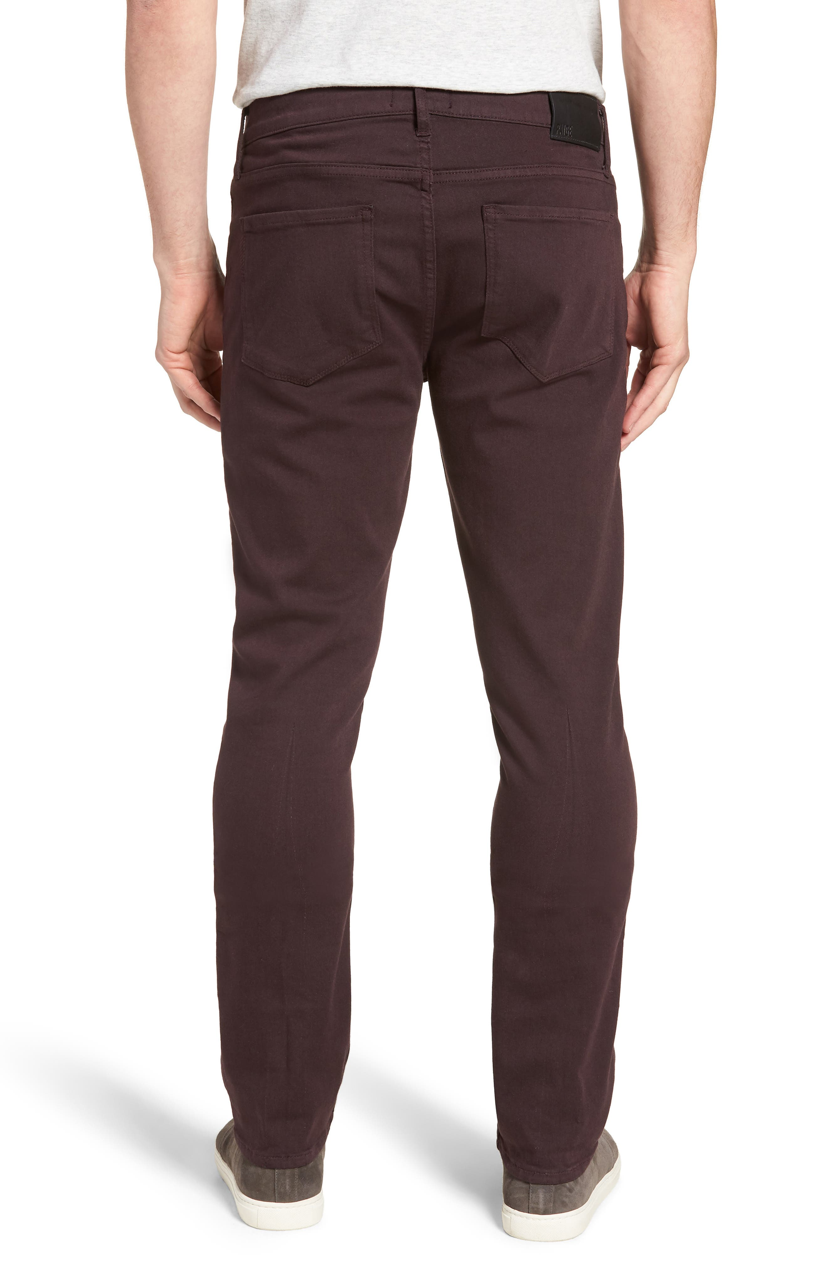 Transcend - Federal Slim Straight Fit Jeans,                             Alternate thumbnail 2, color,                             DARK PORT