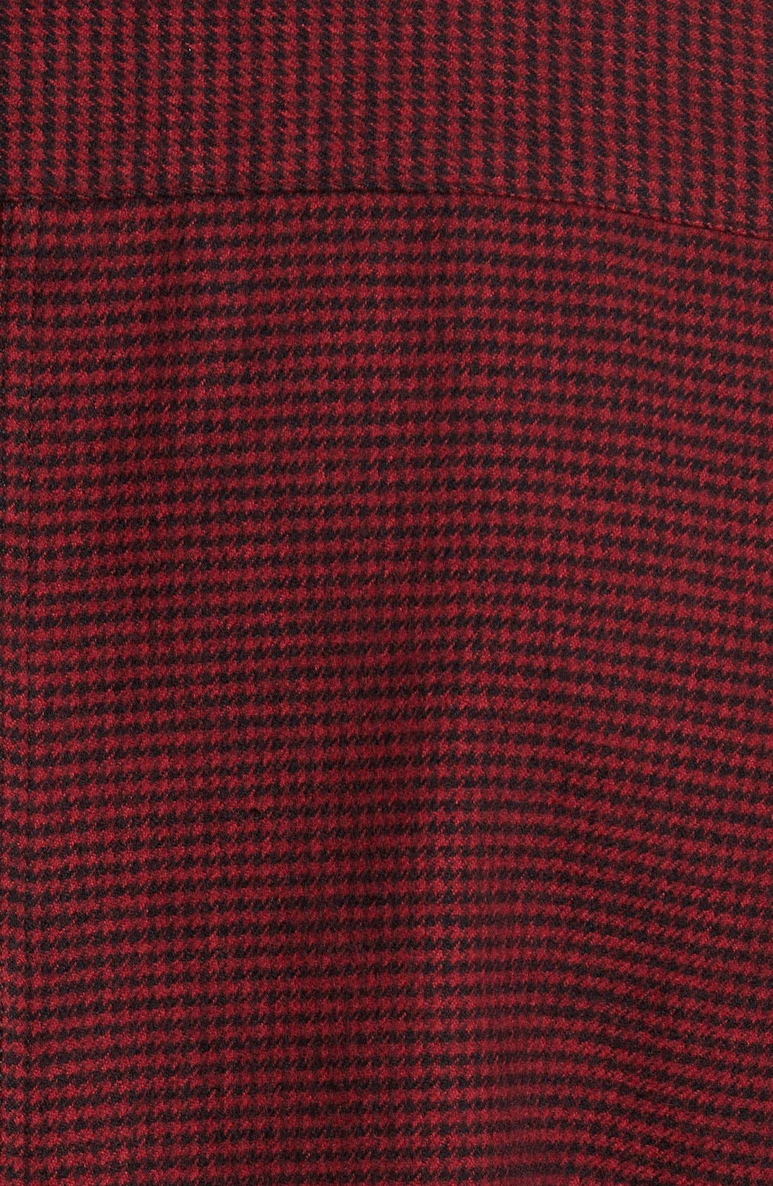 Parker Slim Fit Houndstooth Flannel Shirt,                             Alternate thumbnail 4, color,                             616