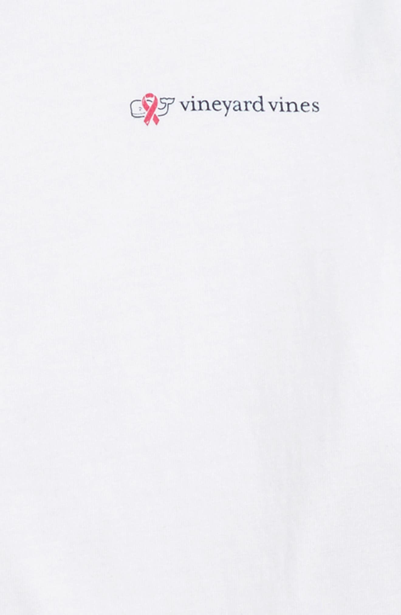 Pink Ribbon Race T-Shirt,                             Alternate thumbnail 3, color,                             JAKE BLUE