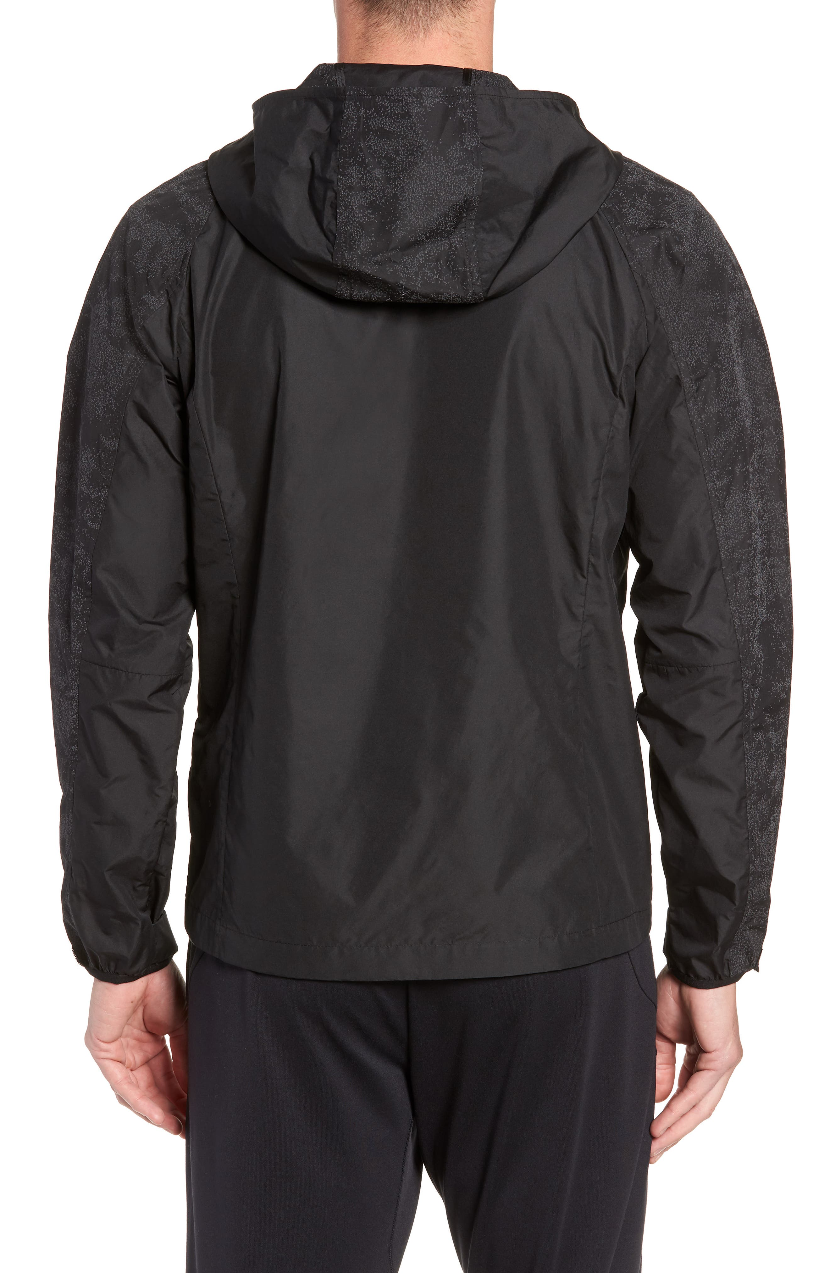 Hooded Reflective Jacket,                             Alternate thumbnail 2, color,                             BLACK REFLECTIVE