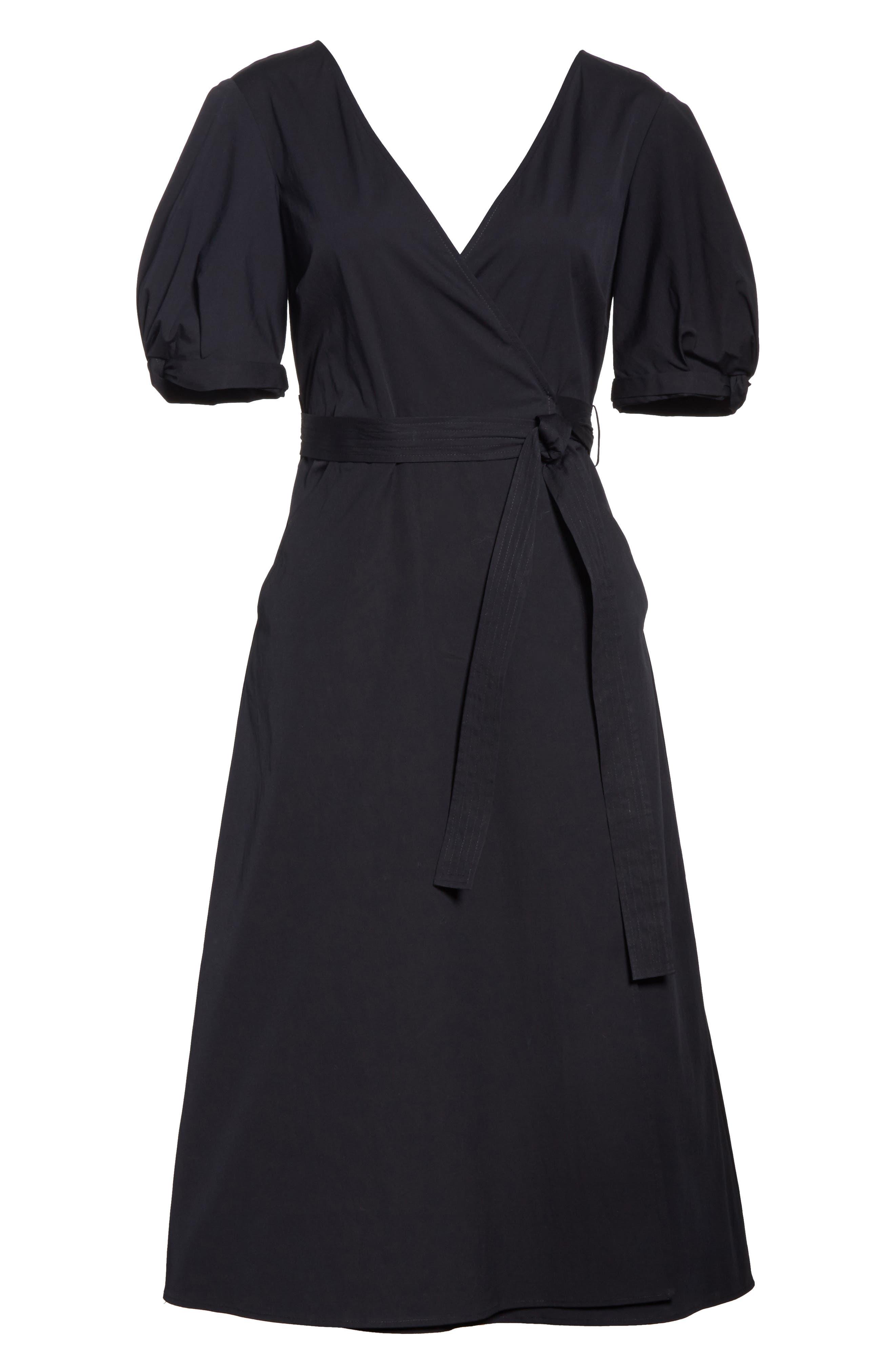 Meghan Wrap Dress,                             Alternate thumbnail 6, color,                             001