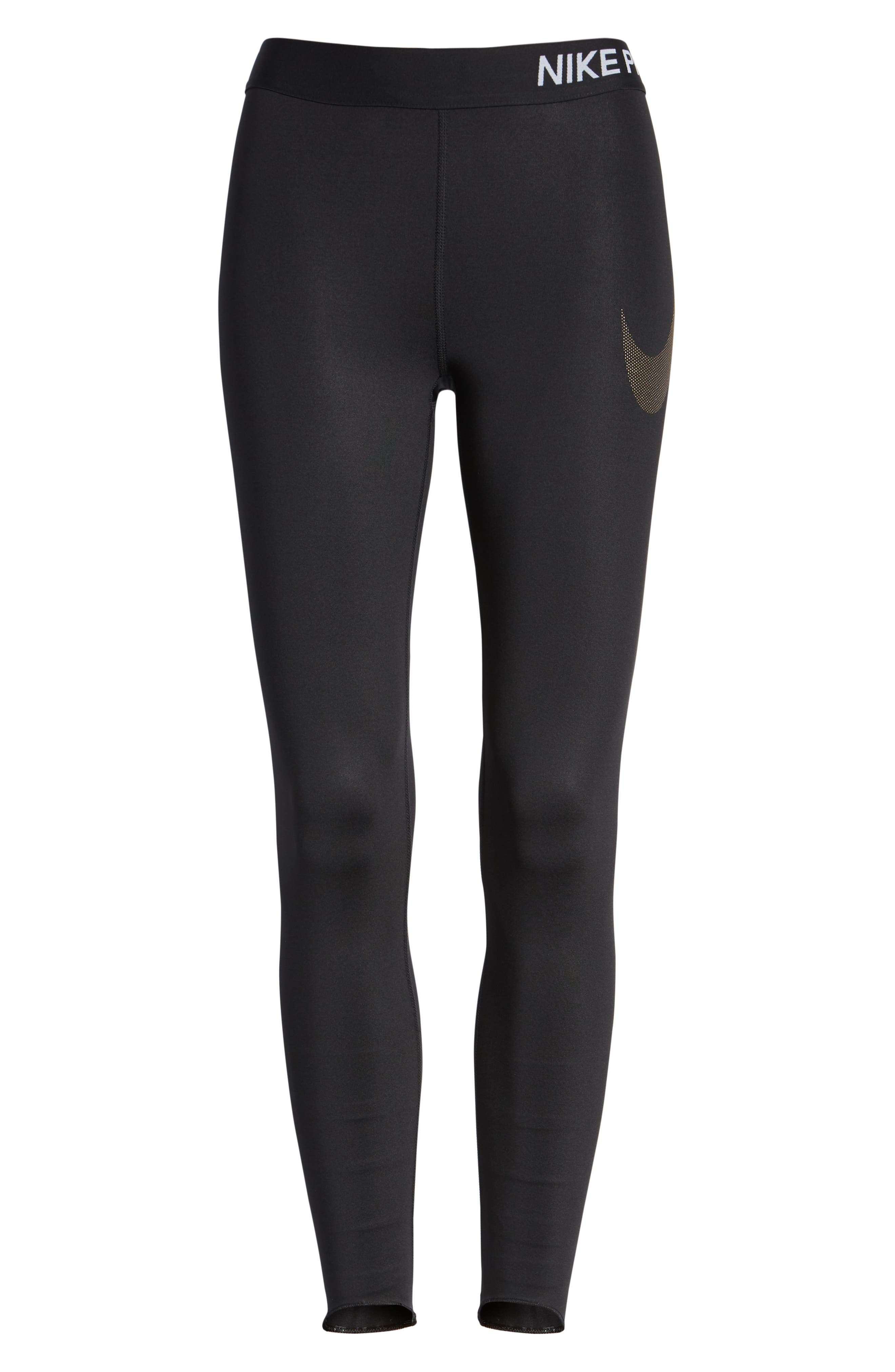 Pro Embossed Logo 7/8 Tights,                             Main thumbnail 1, color,                             010