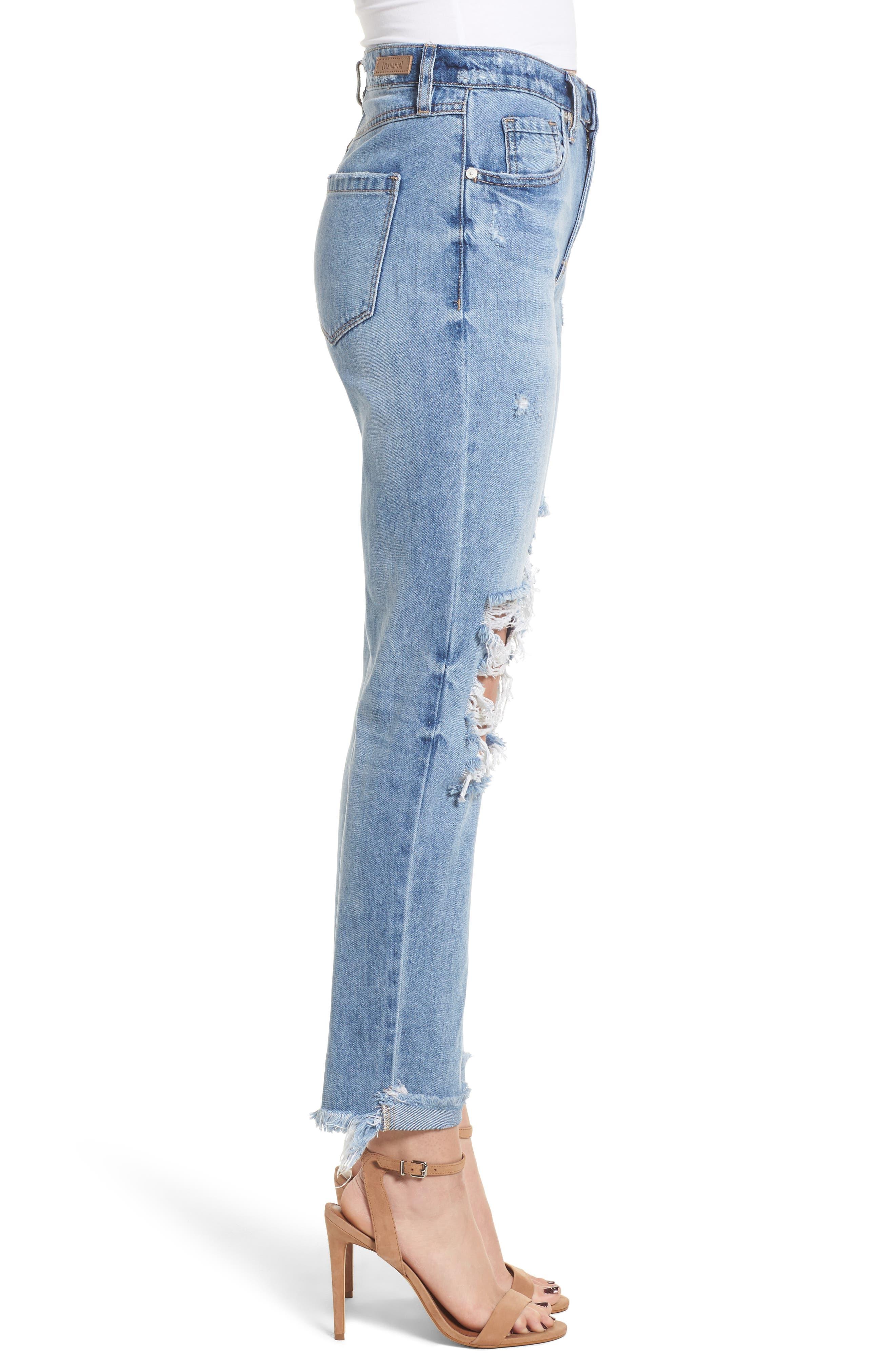 The Rivington Ripped Straight Leg Jeans,                             Alternate thumbnail 3, color,                             420