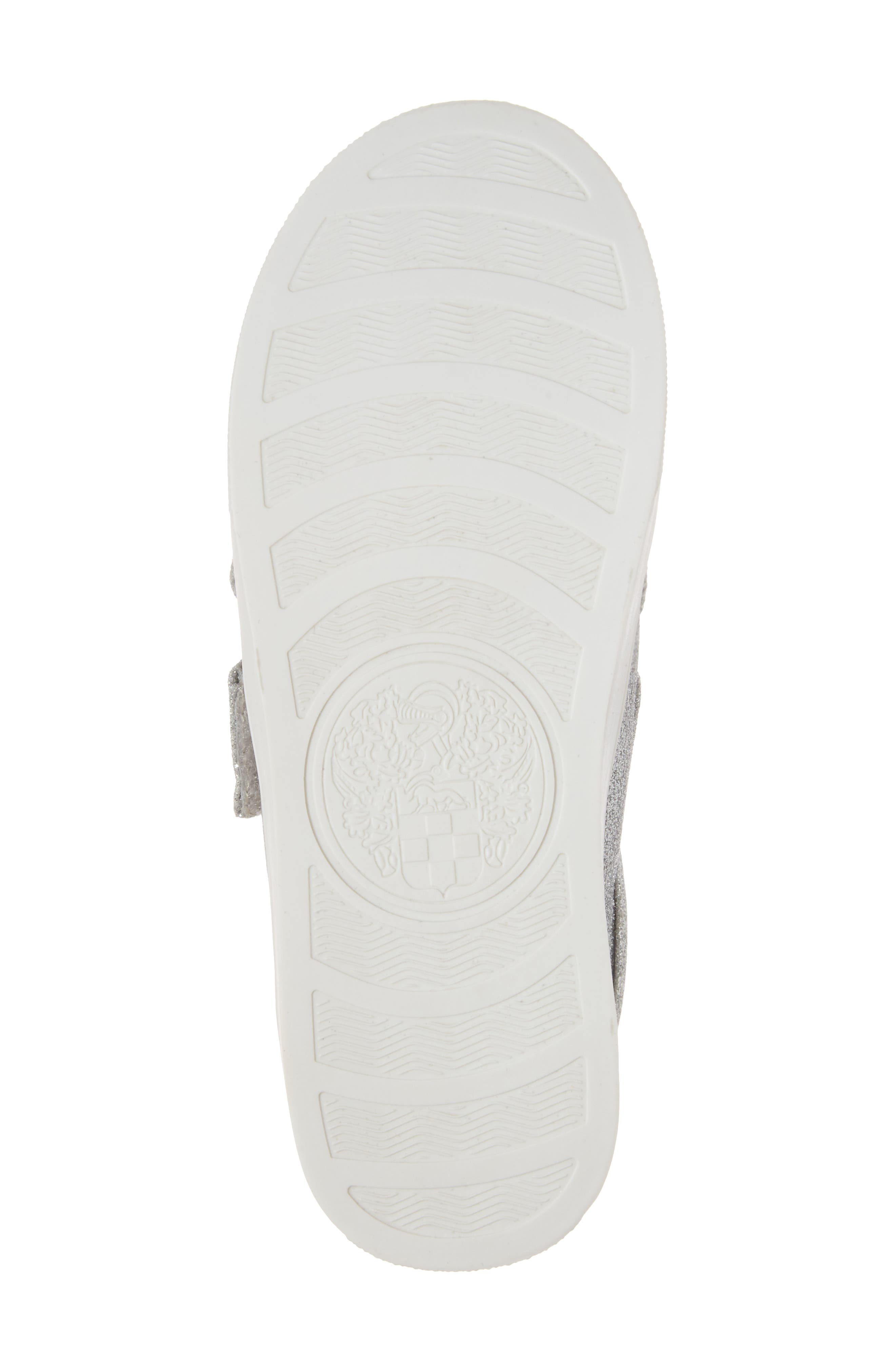 Baylen Embellished Glitter Sneaker,                             Alternate thumbnail 6, color,                             SILVER GLITTER