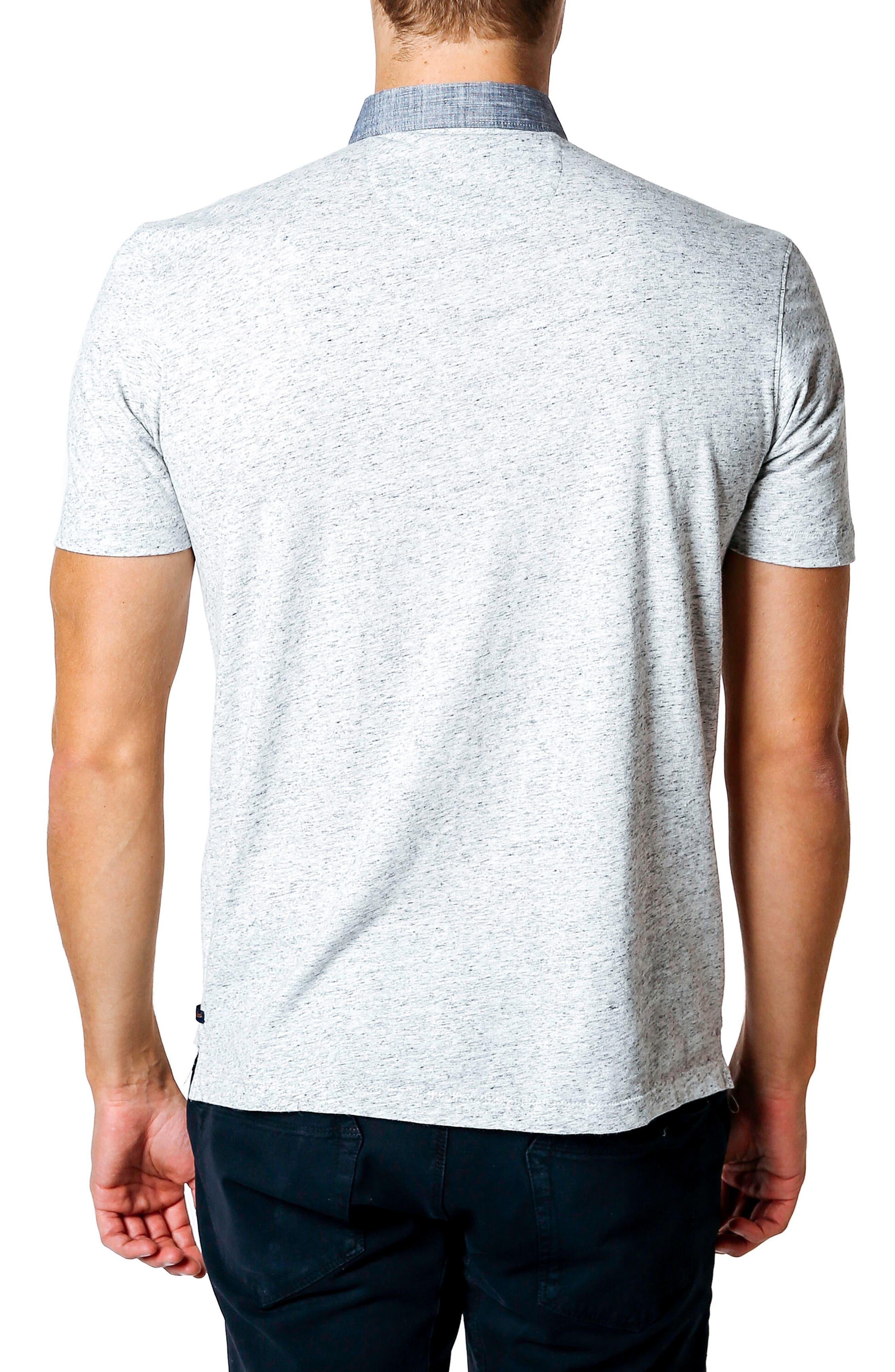 GOOD MAN BRAND,                             Trim Fit Polo Shirt,                             Alternate thumbnail 2, color,                             030