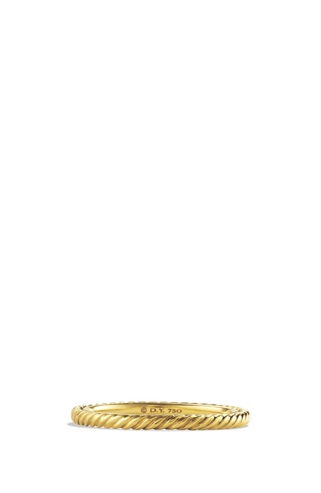 'Cable' Band Ring in Gold, Main, color, GOLD