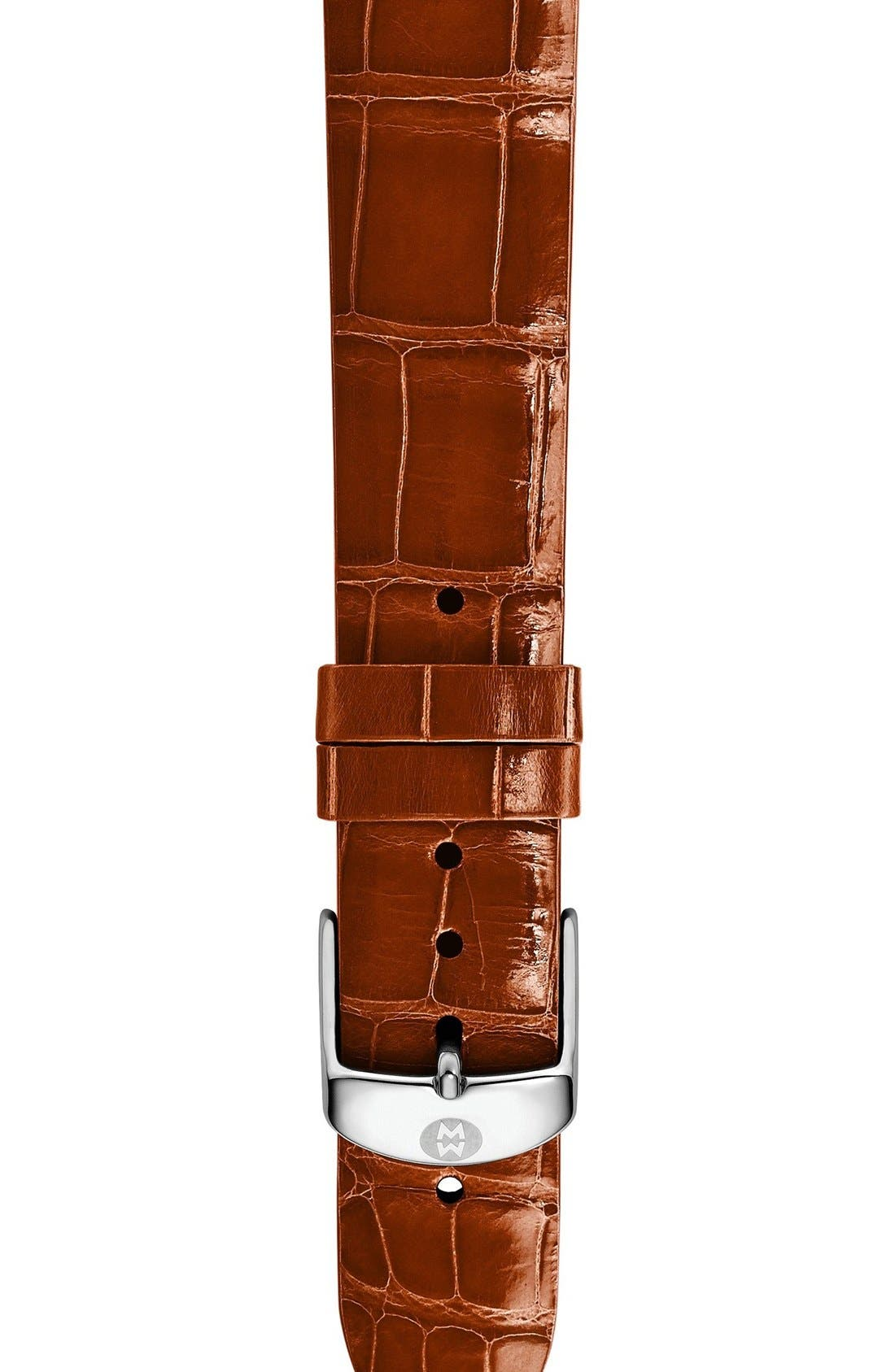 16mm Alligator Watch Strap,                             Main thumbnail 1, color,