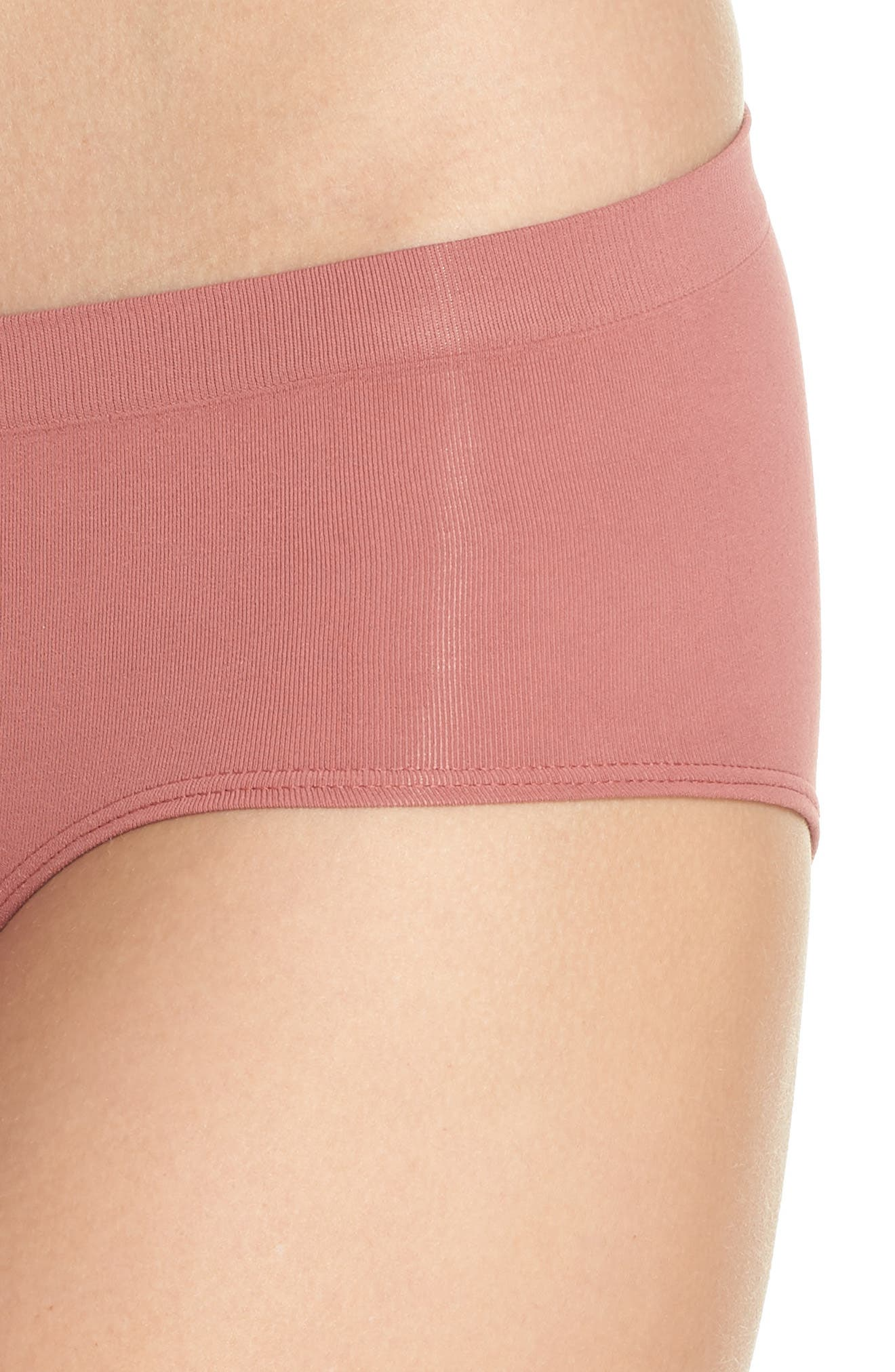 Seamless Hipster Briefs,                             Alternate thumbnail 4, color,                             PINK TAFFY