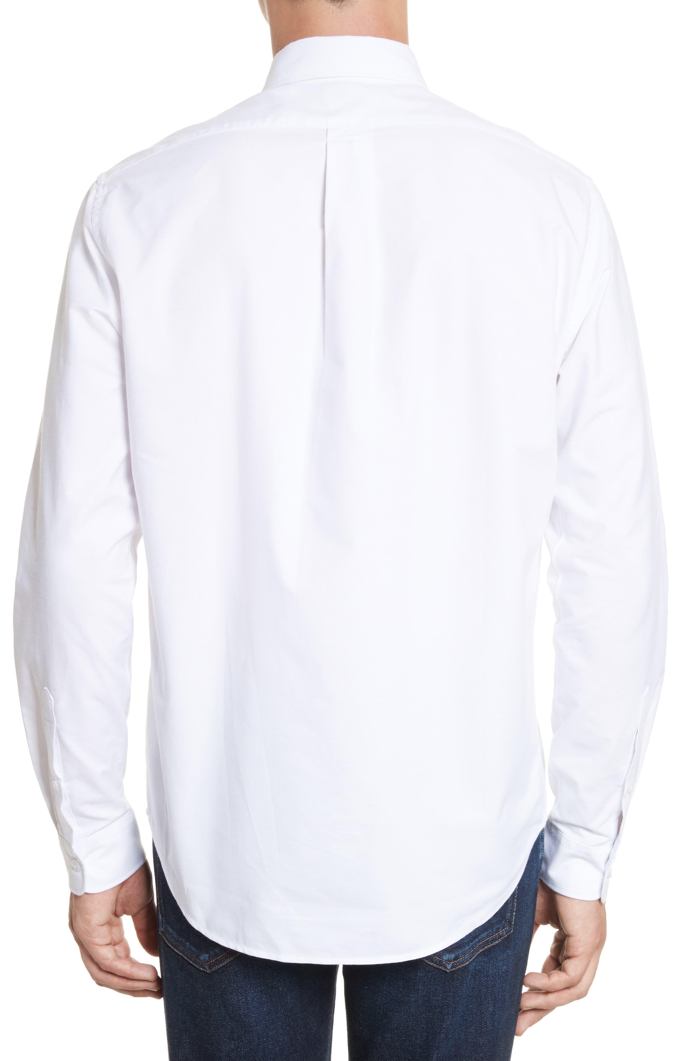 Knit Logo Woven Shirt,                             Alternate thumbnail 2, color,                             100