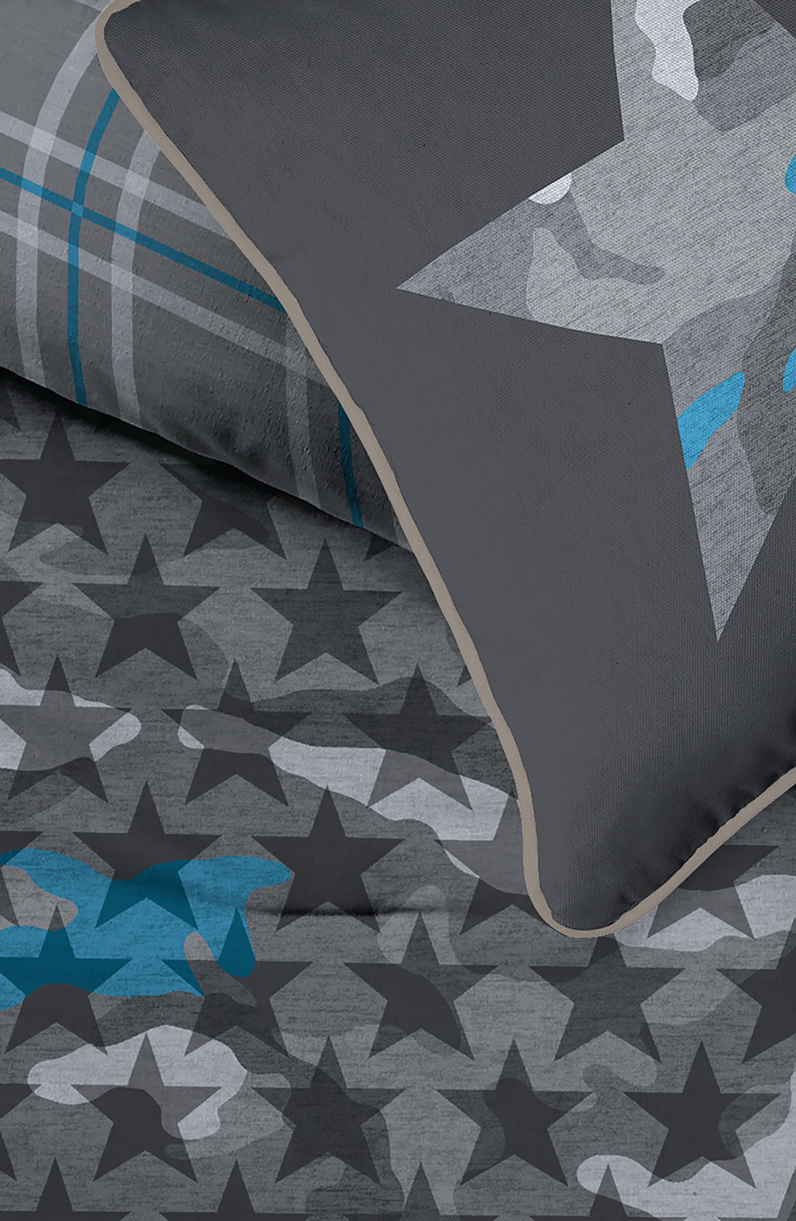 DKNY,                             Camo Comforter & Sham Set,                             Alternate thumbnail 2, color,                             GREY