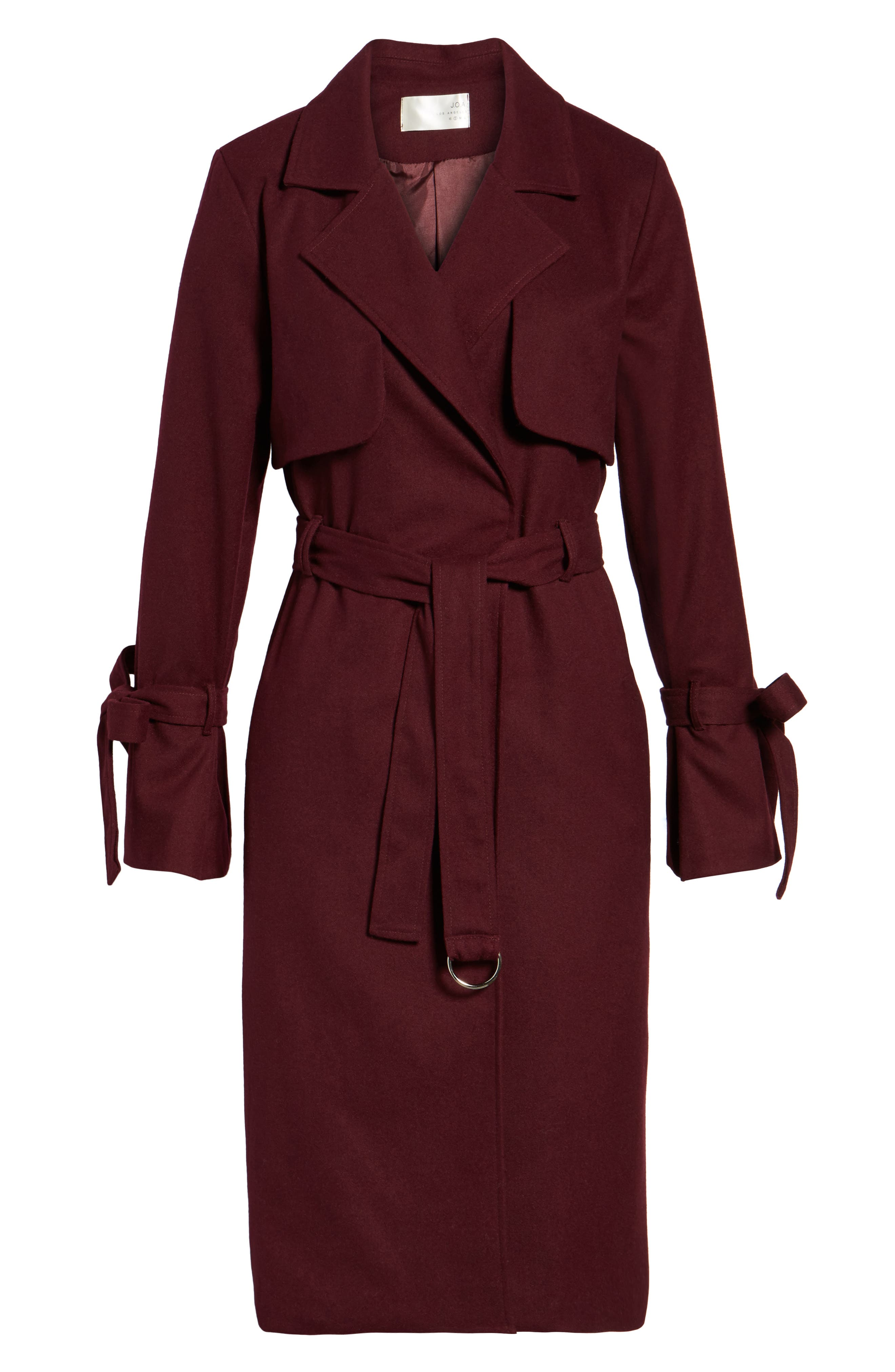 Tie Sleeve Trench Coat,                             Alternate thumbnail 5, color,