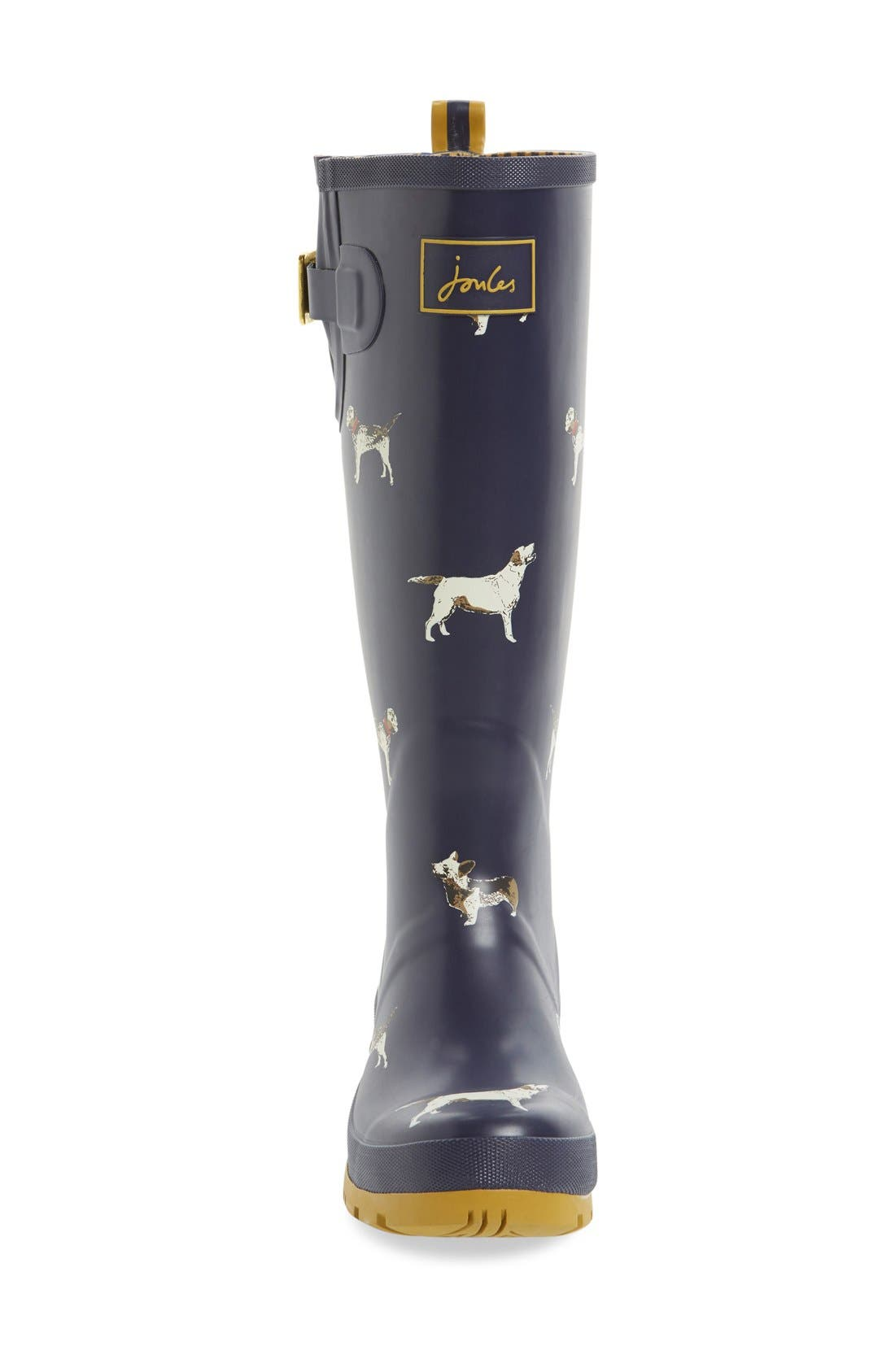 'Welly' Print Rain Boot,                             Alternate thumbnail 90, color,