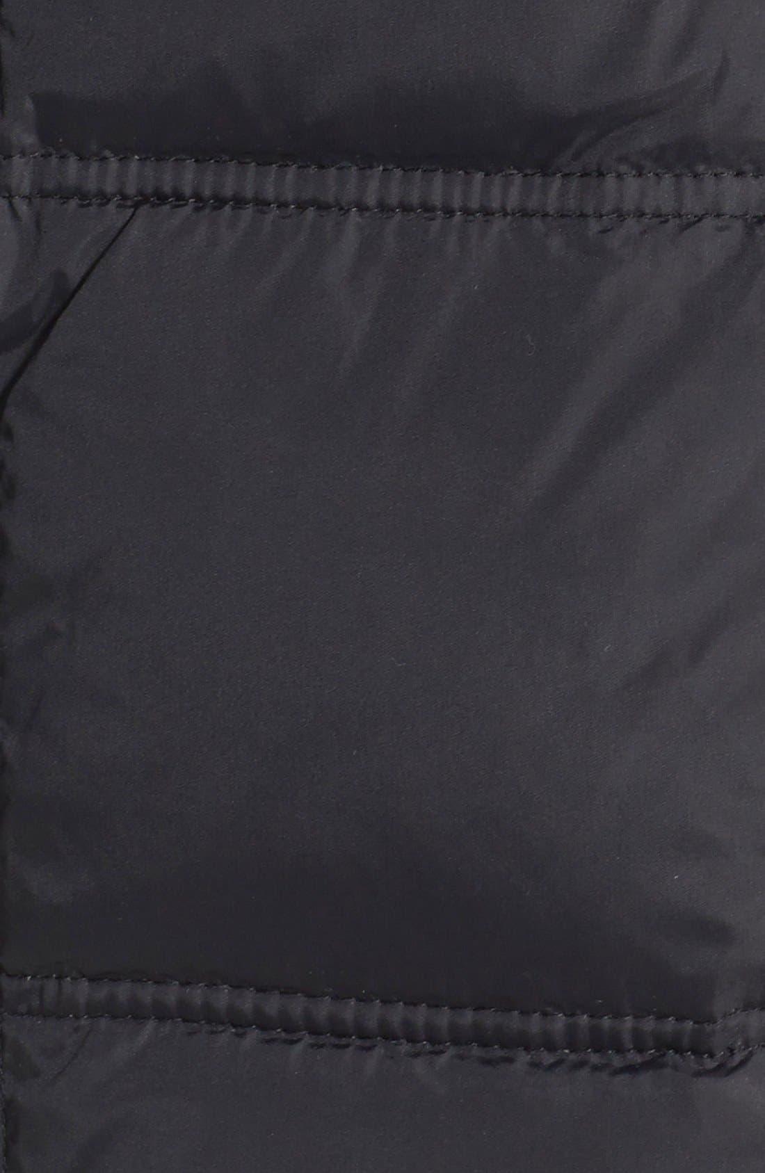LARRY LEVINE,                             Down & Feather Fill Coat with Faux Fur Trim,                             Alternate thumbnail 5, color,                             001